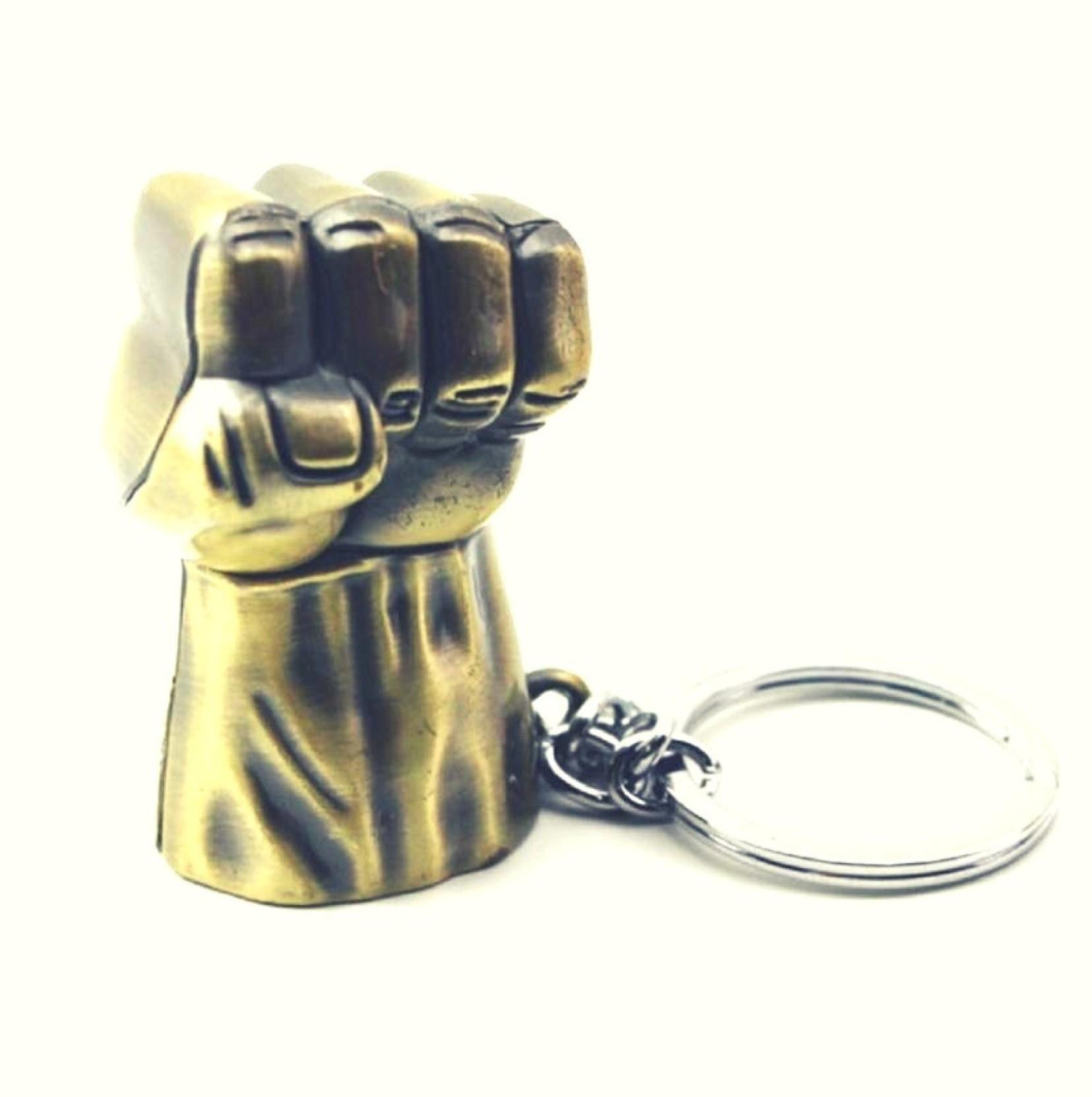Jakha Thor Avengers  Infinity War Star Hulk Fist Metal Golden Locking Key  Chain Keyring for Men Women Boys Girls Car  ba11c0013