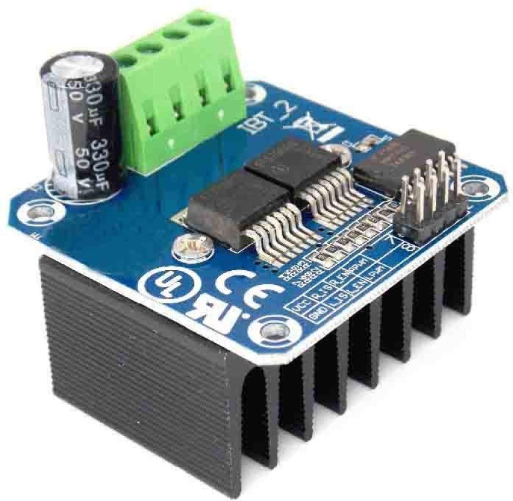 Kitsguru Double Bts7960b Dc 43a Stepper Motor Driver H Bridge Pwm Amplifier It Is Such A Complete Hbridge For Arduino Smart Car Share