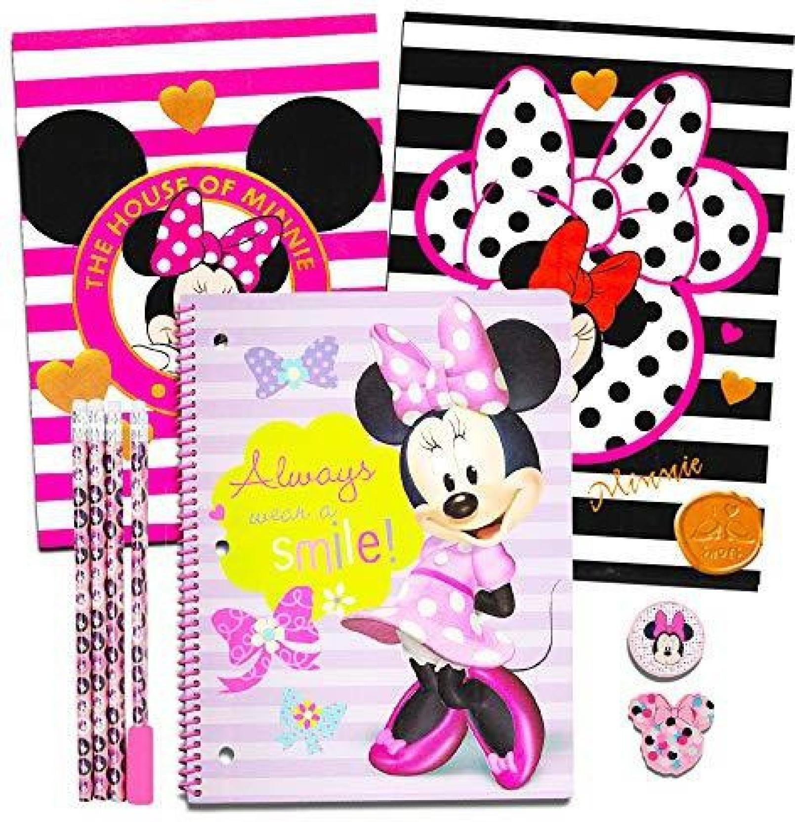 Folder 8 Pack Pencils 3 Items: Spiral Notebook Shopkins School Supplies