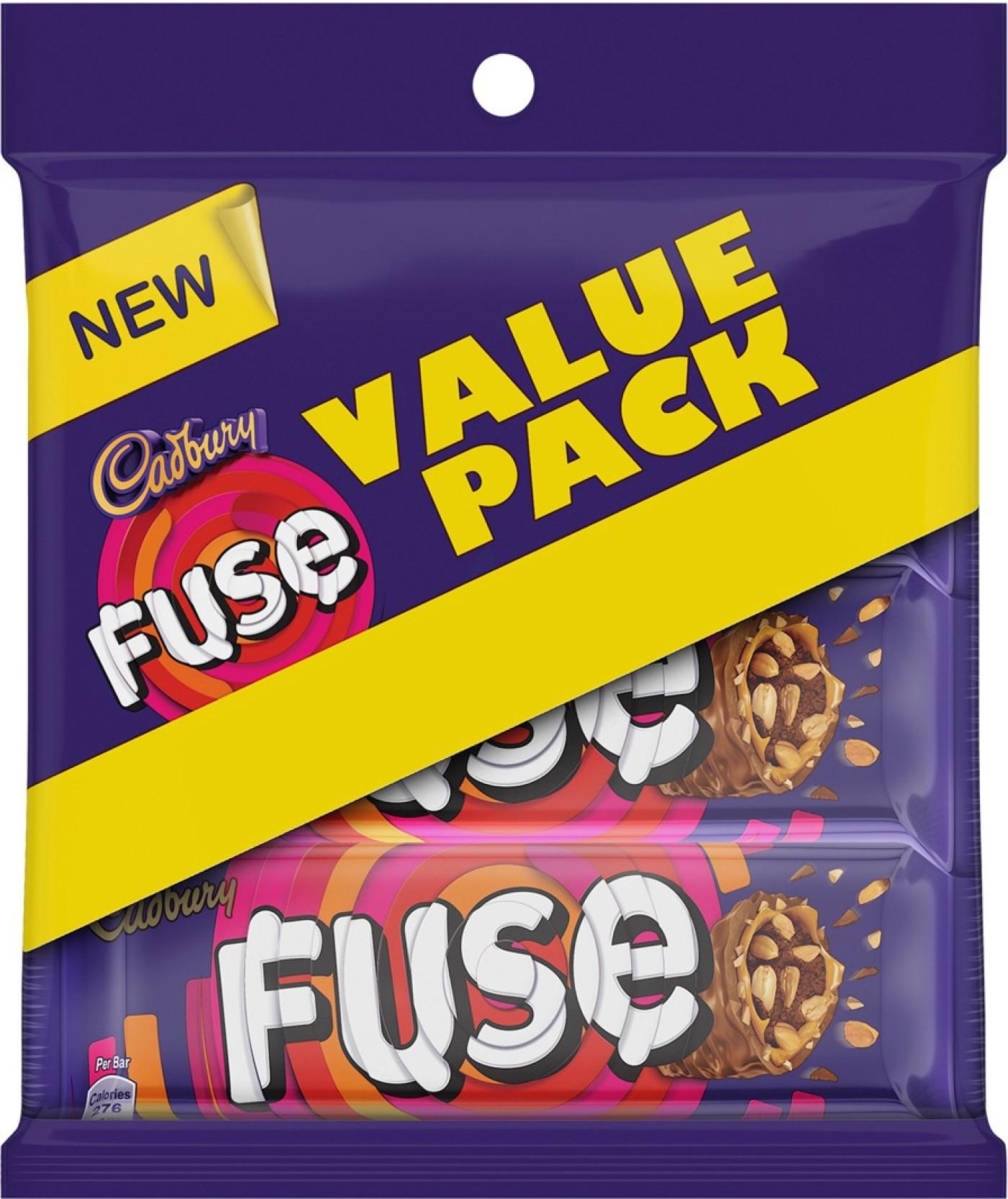 Cadbury Fuse Chocolate Bar Trio Pack 150 G Of 5 Bars Price Box Holder Home