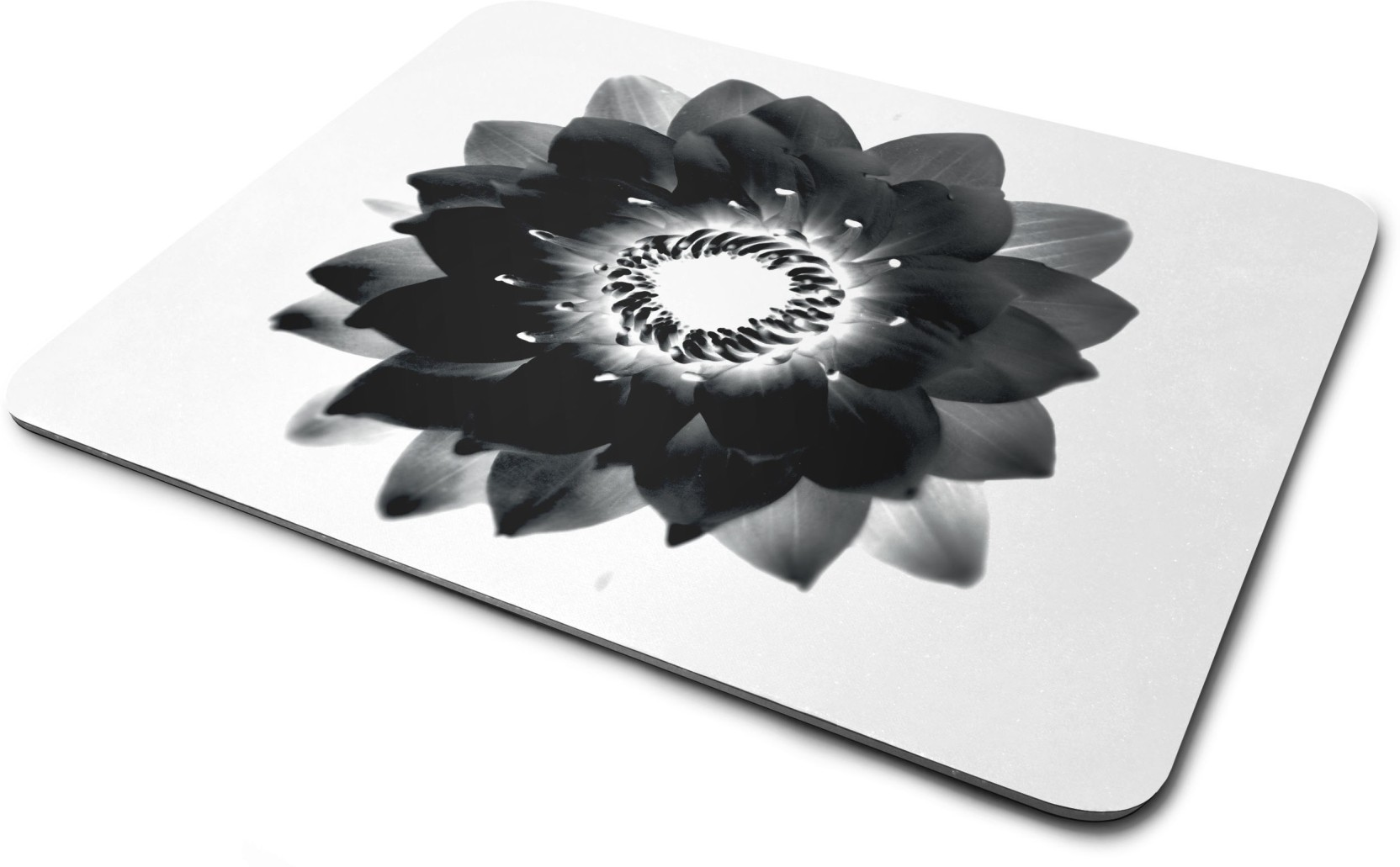 Rawpockets Black Lotus Flower Printed Mouse Padprinted Mouse Pad