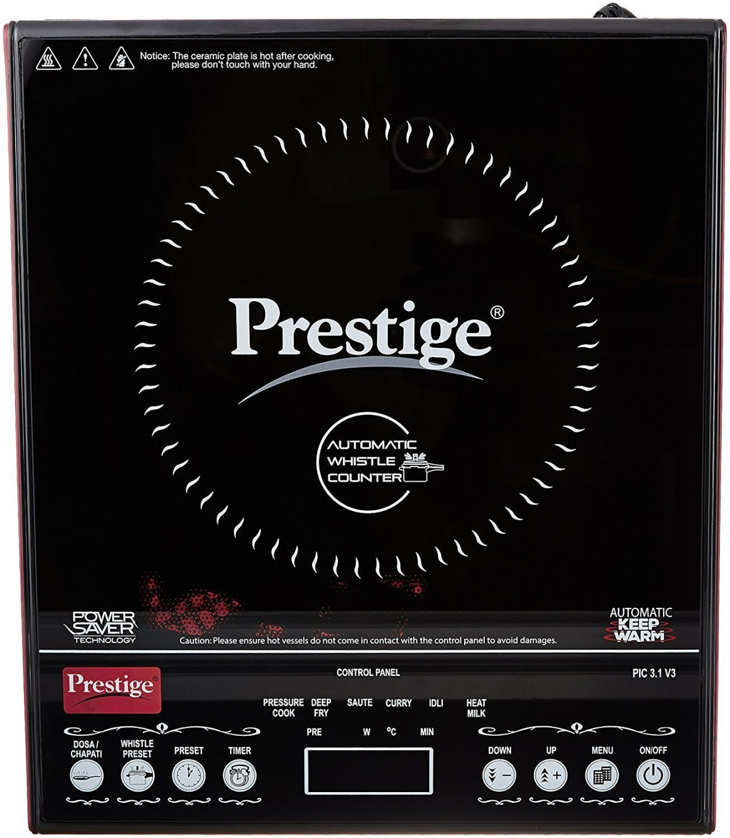 Prestige Pic 31 V3 Induction Cooktop Buy Philips Rice Cooker Hd 3118 32 Add To Cart