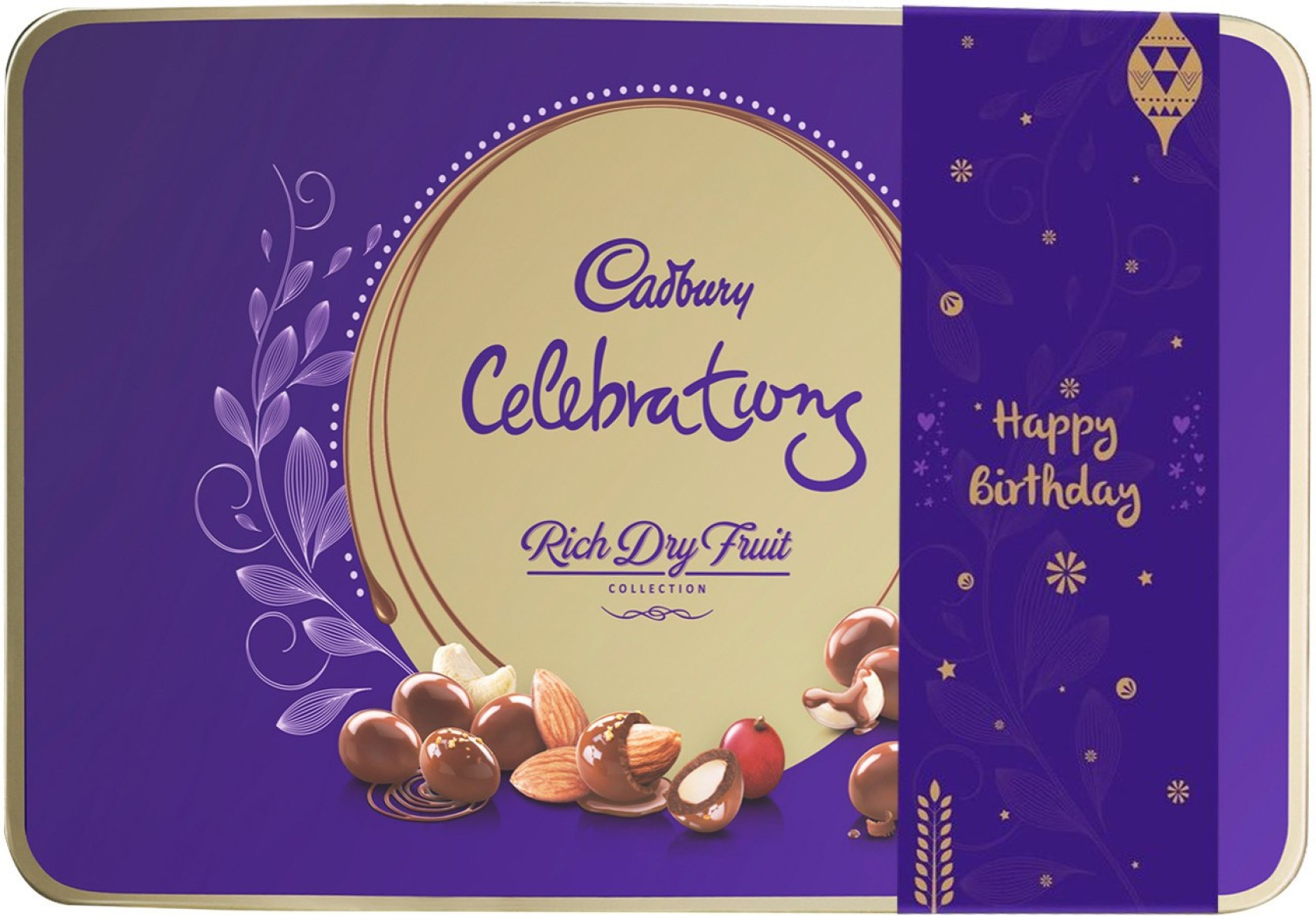 Cadbury Celebrations Rich Dry Fruit Chocolate Happy Birthday Gift Pack 177 Gm Brittles G