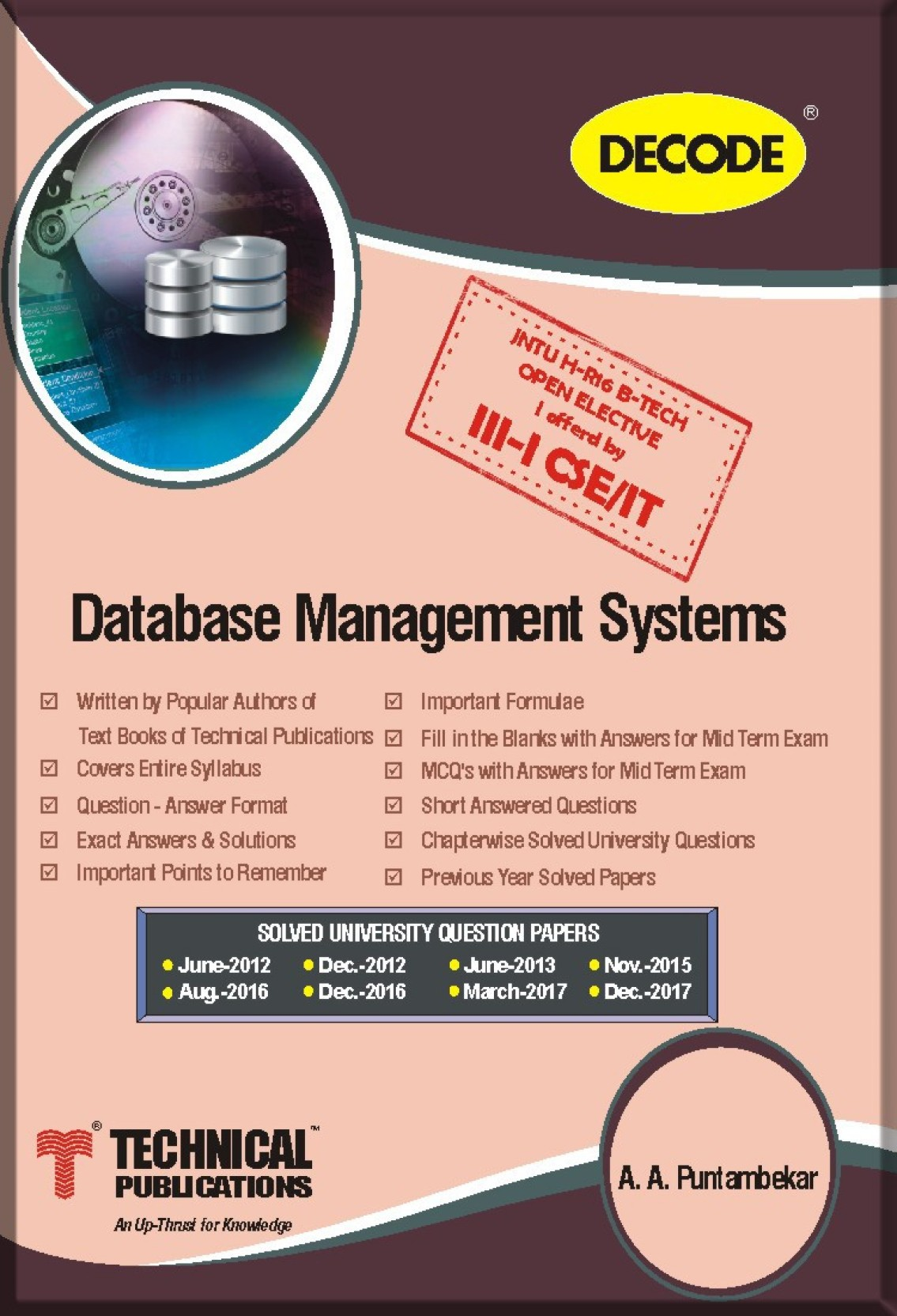 DECODE (ALL IN ONE) - JNTU-H Database Management Systems