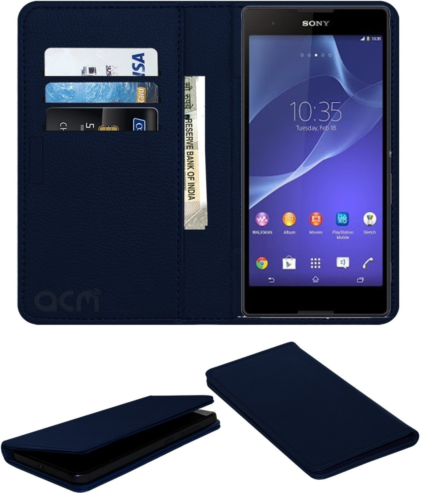 ACM Flip Cover for Sony Xperia T2 Ultra Dual - ACM