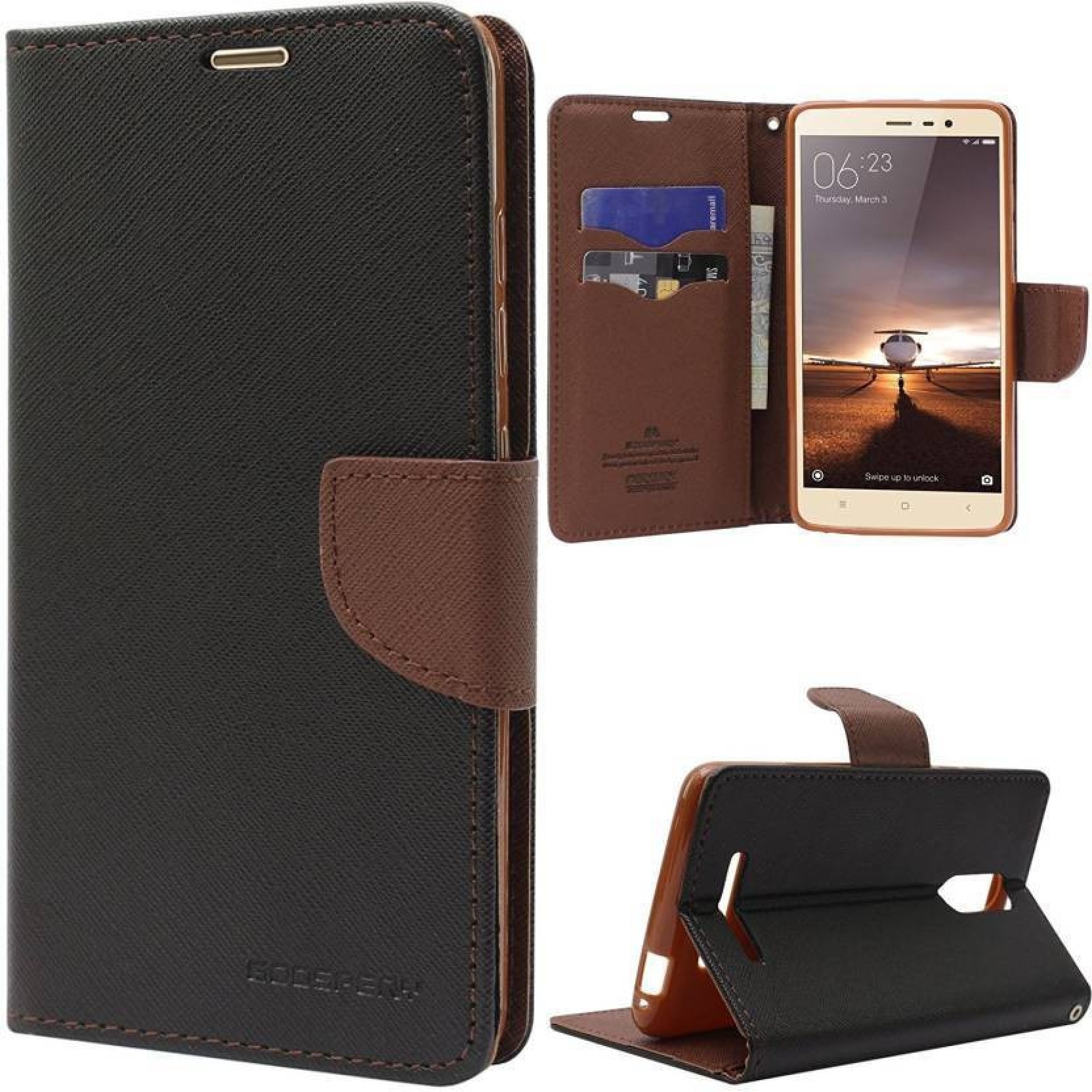 Ramola Traders Flip Cover For Mi Redmi 6a Mercury Goospery Fancy Iphone 6 6s Diary Case Brown Black Wallet Add To Cart