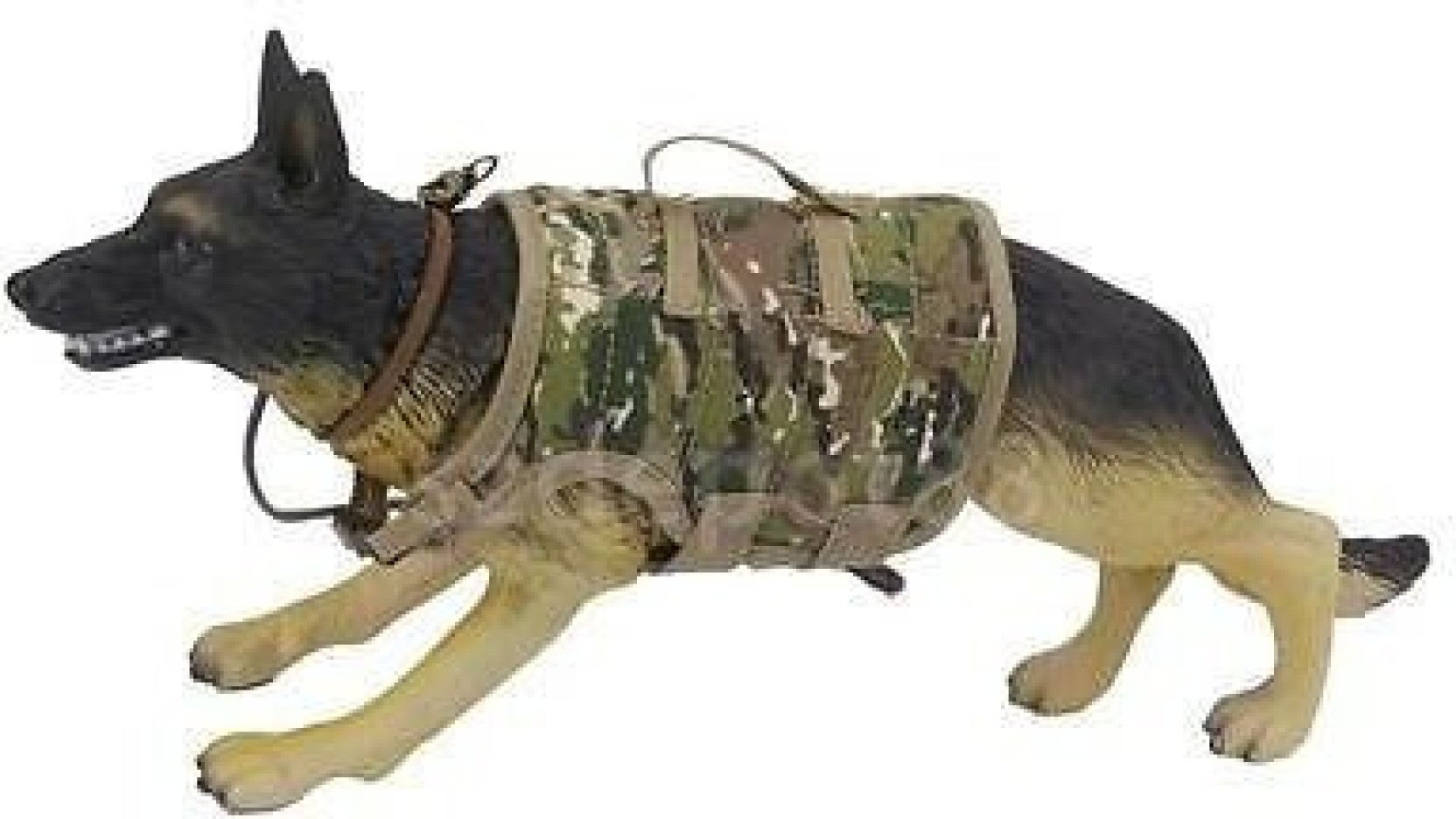 1//6 Scale German Shepherd Police Dog With Clothe Action Figures Military Model