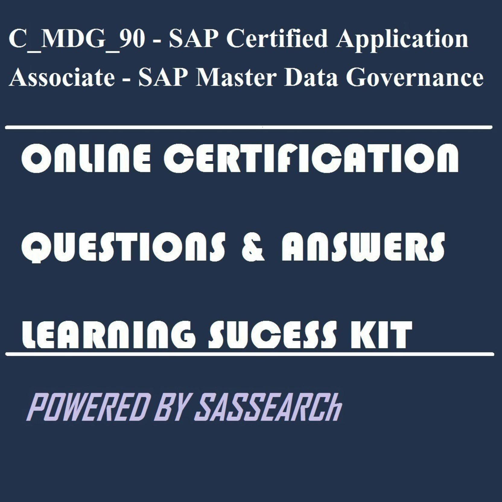 sapsmart C_MDG_90 - SAP Certified Application Associate - SAP Master ...