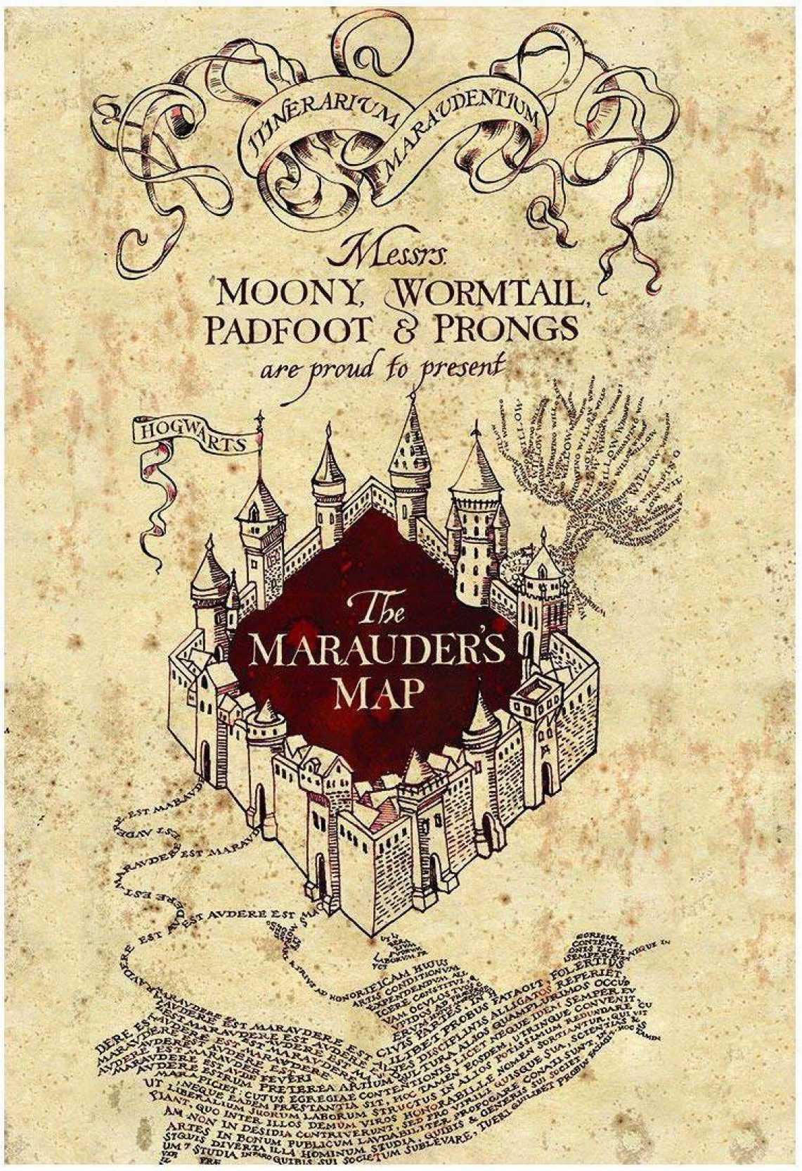 WB Official Licensed Harry Potter Marauders Map Poster A3+ 13 x 19 ...