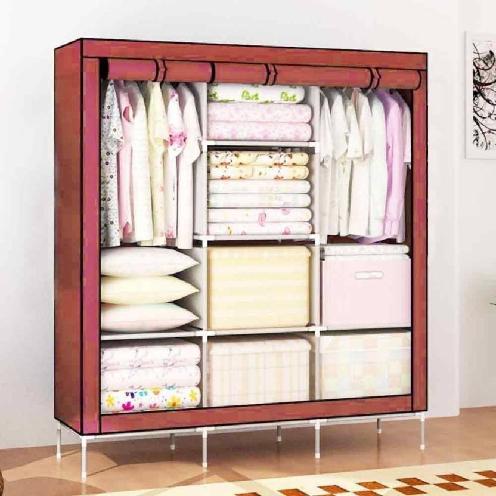 new style e7e0b a99e8 Fun Central 88130 Fancy Wardrobe closet Carbon Steel ...