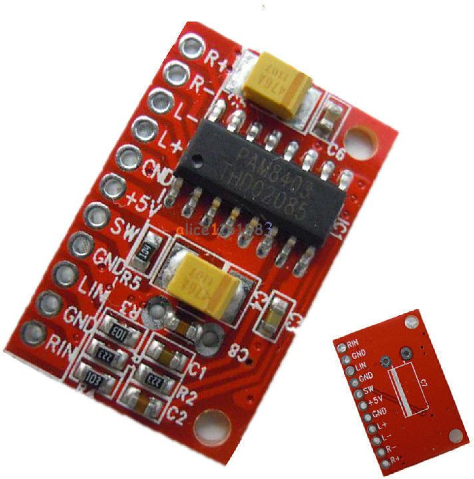Mini Digital Amplifier Board Class D 23w Usb Power Pam8403 Audio Hifi 5v Stereo 2 Channel 3w Arduino M173 Channels Fiber