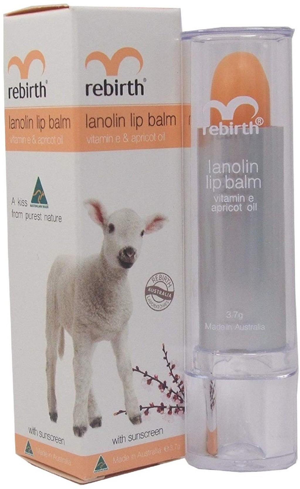 5cbae937390314 Rebirth Lanolin Lip Balm with Vitamin E & Apricot Oil na (Pack of: 1, 3.7 g)