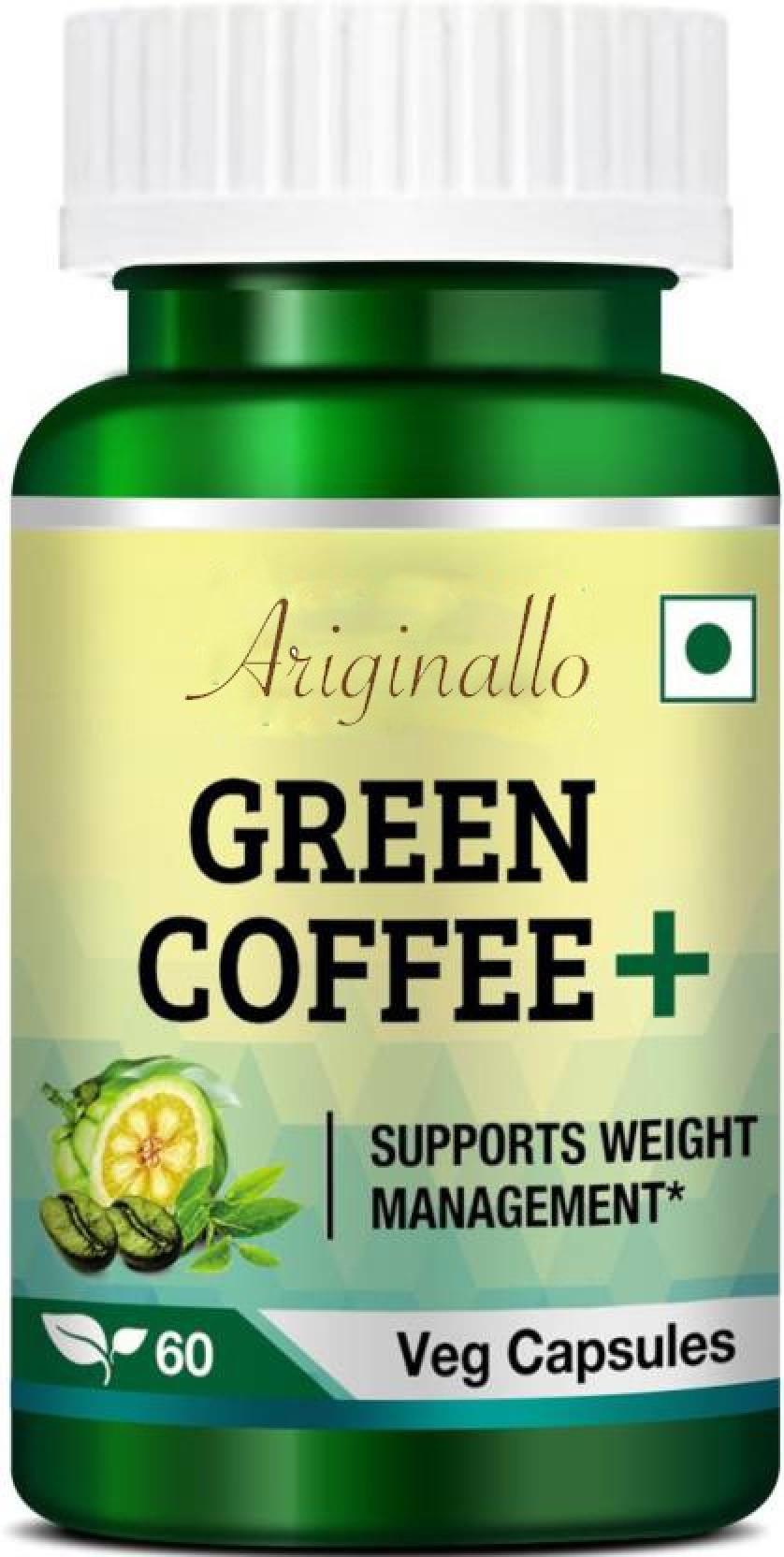 Ariginallo Premium Organic Green Coffee Beans For Weight Loss Price Capsule Pure Arabica 60 Caps Share