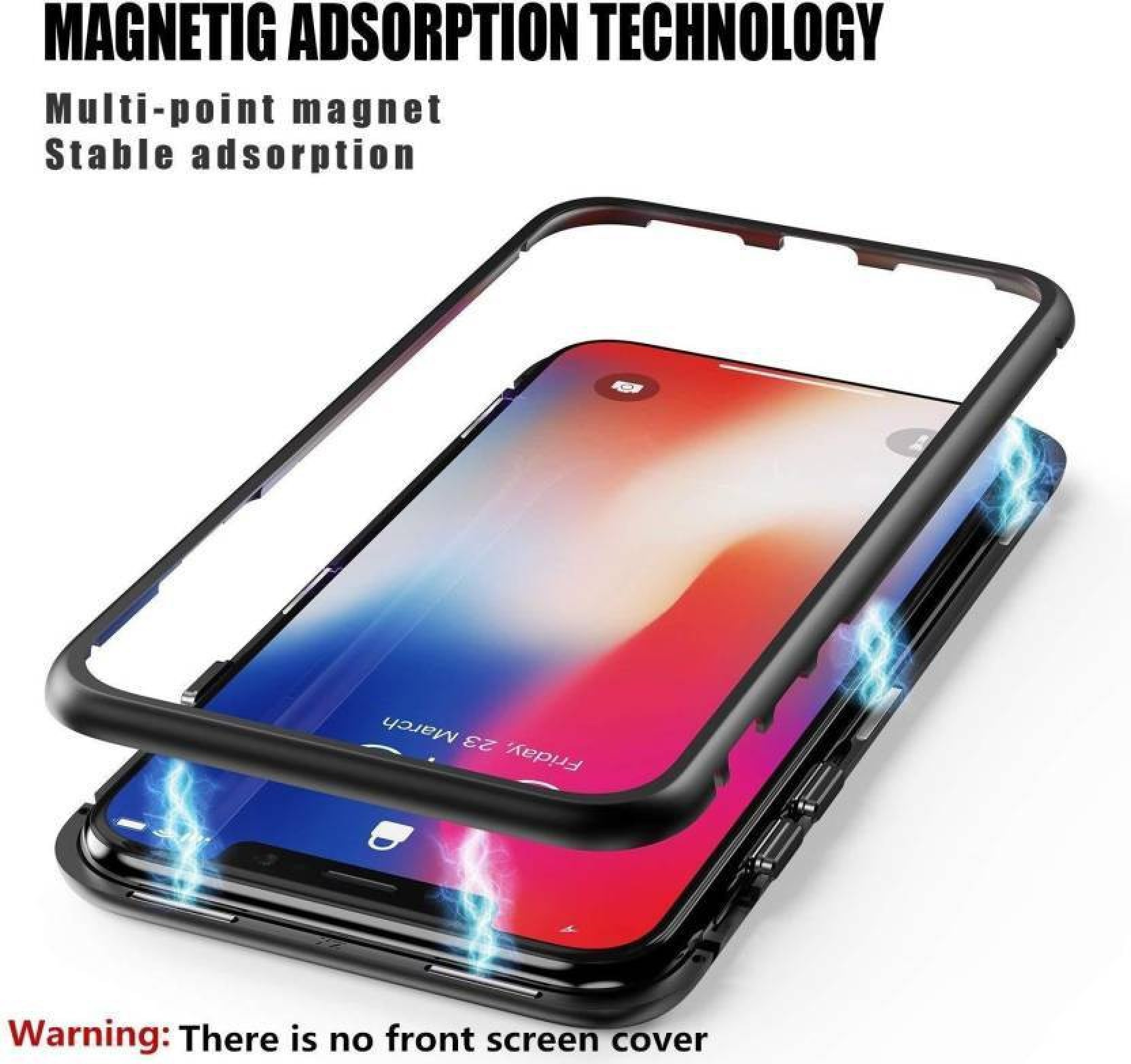 cheap for discount 0c724 52e2d TECHCARE Back Cover for OnePlus 6, Magnet 100% Electronic Auto-Fit ...