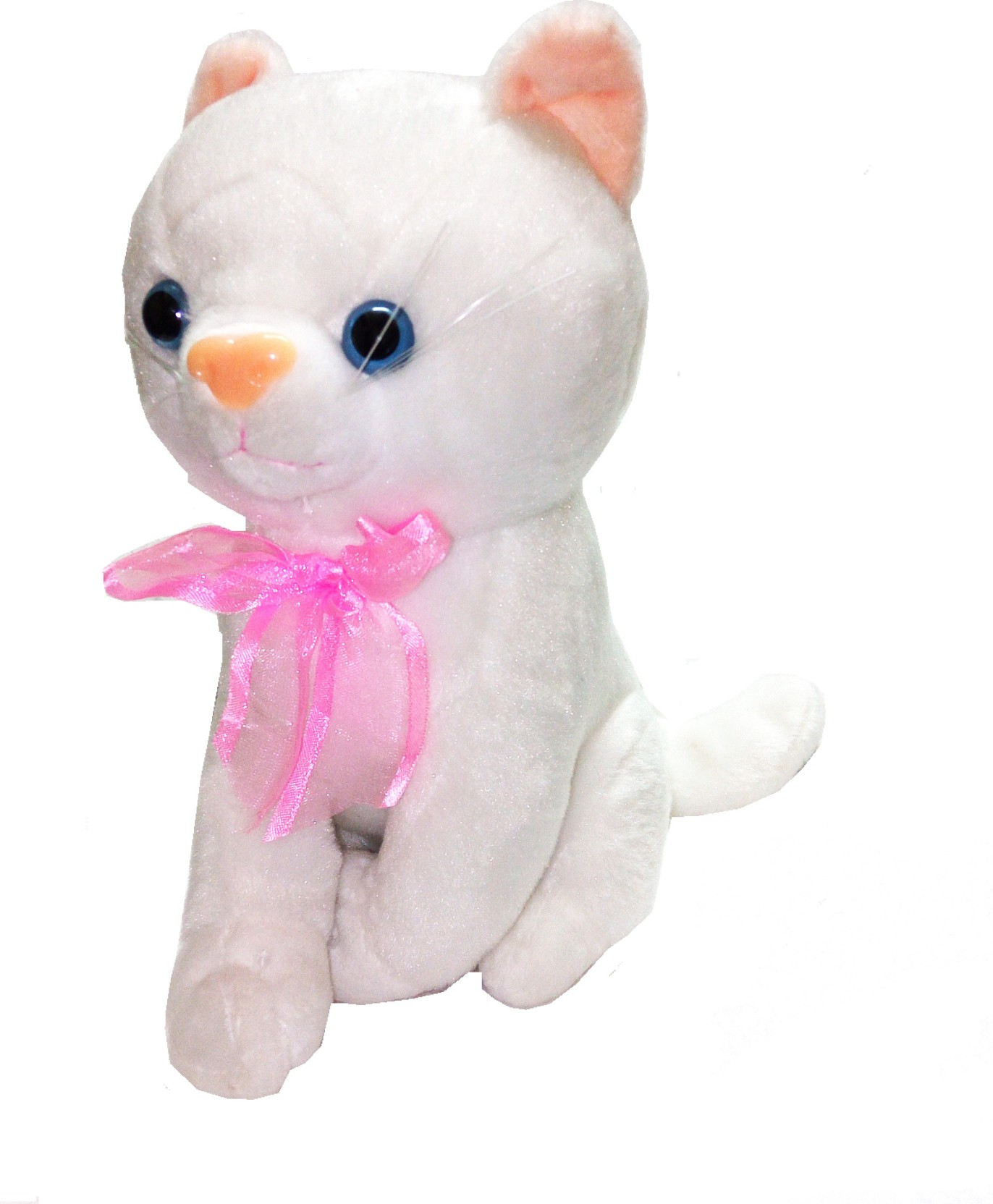 452c0271d508 TALKING GANESHA Cute Baby Kitten With Meow Sound Stuffed Soft Toy for kids  - White - 8 inch (White)