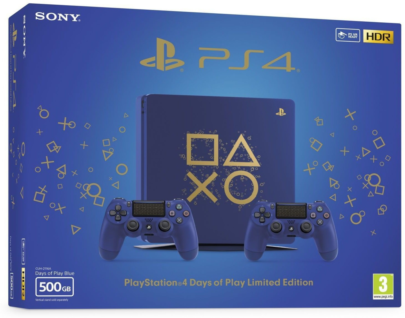 Sony PlayStation 4 (PS4) Days of Play Limited Edition 500 GB
