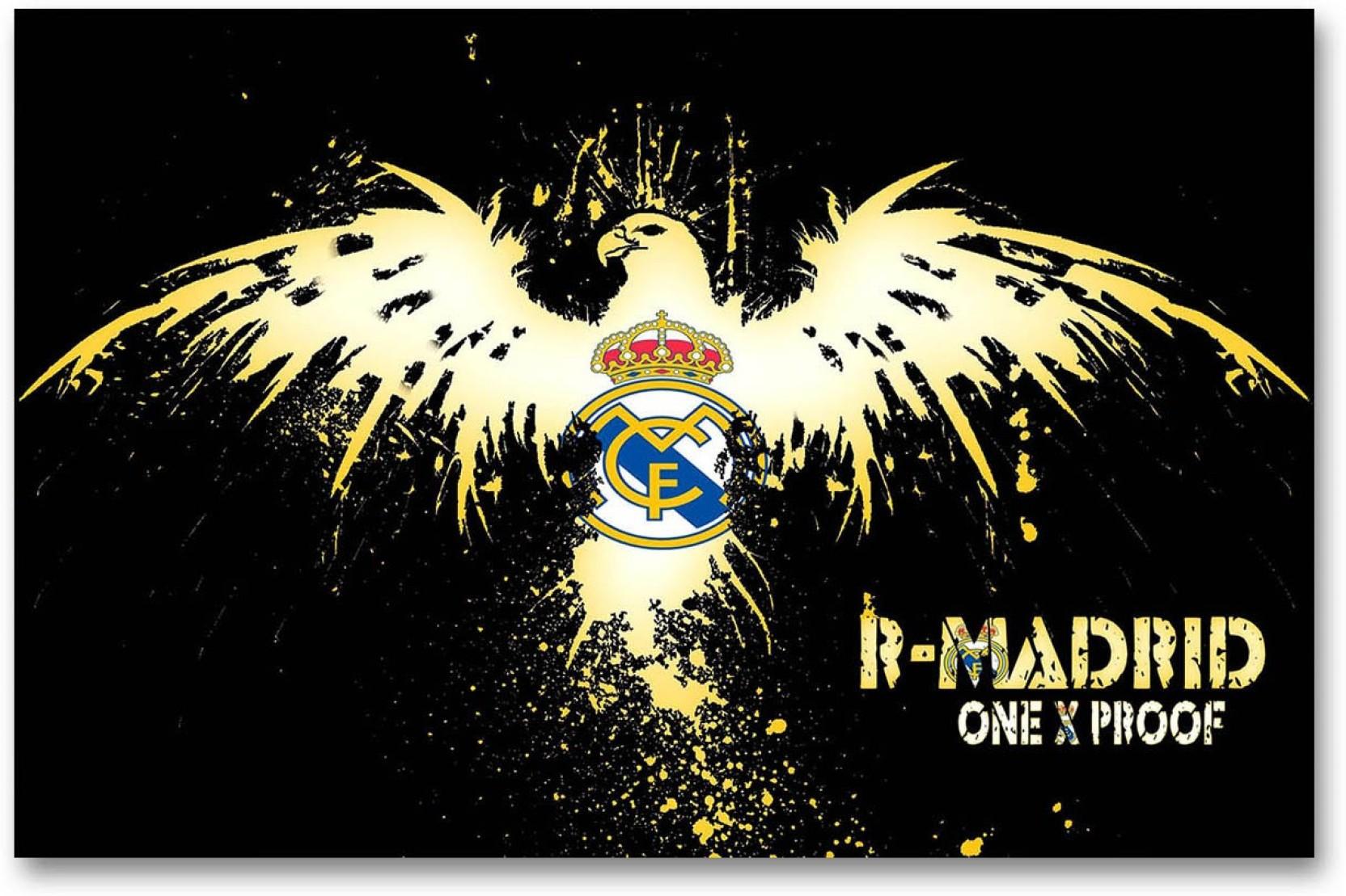 Real Madrid Football Club Wall Poster Logo Fan Art Hd