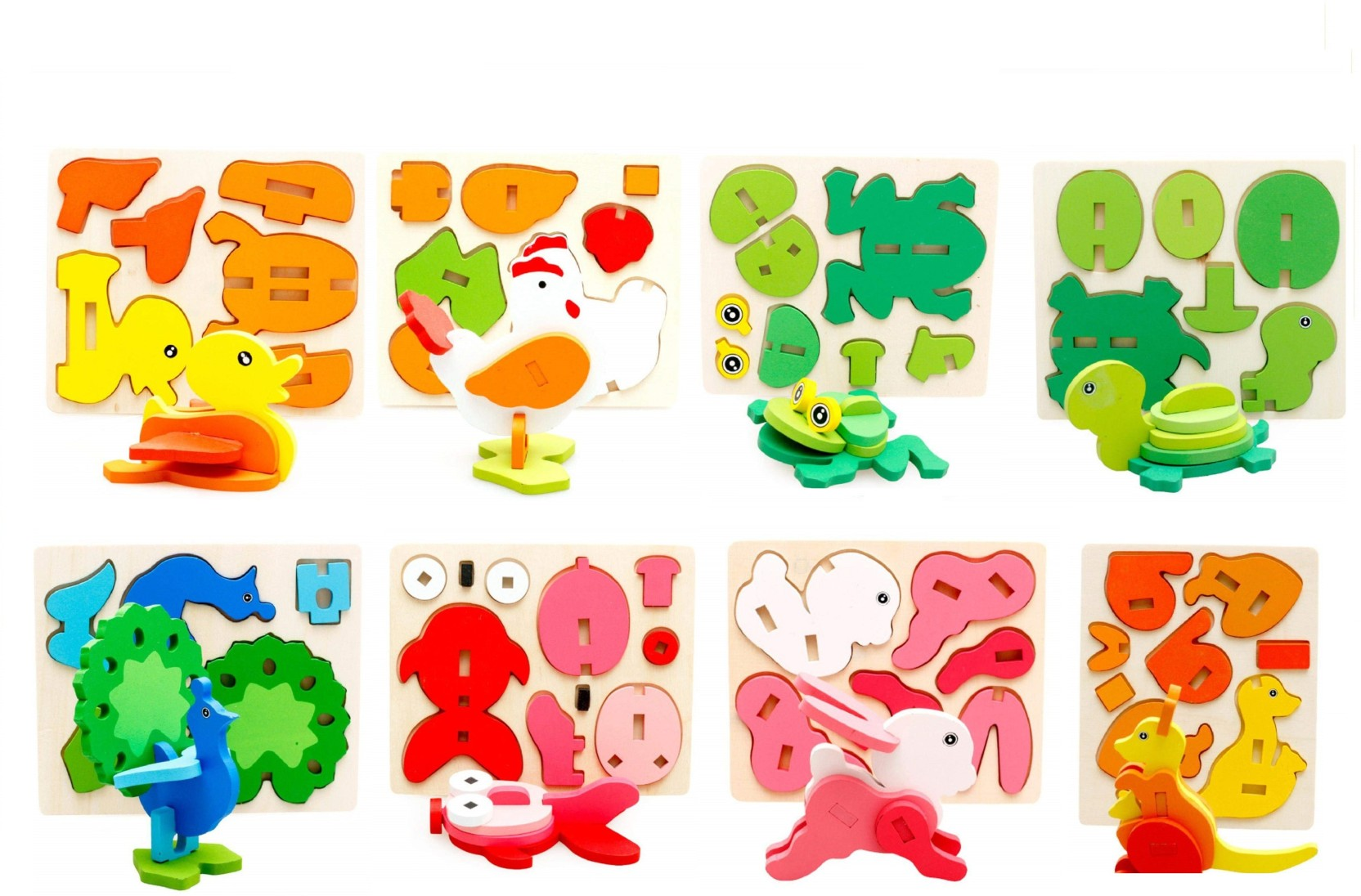 FLICK IN Early Age Montessori 3D Wooden Puzzles For Kids