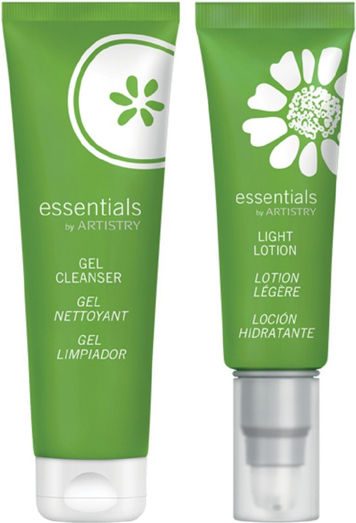 Amway Essentials By Artistry Combo Gel Cleanser Light Lotion 175 Artisty System Ml Set Of 2