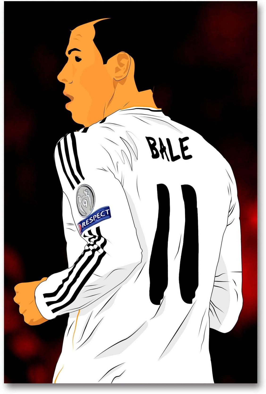 huge discount 1b3b3 76c3a Real Madrid C.F. Wall Poster - Gareth Bale - Fan Art - HD ...