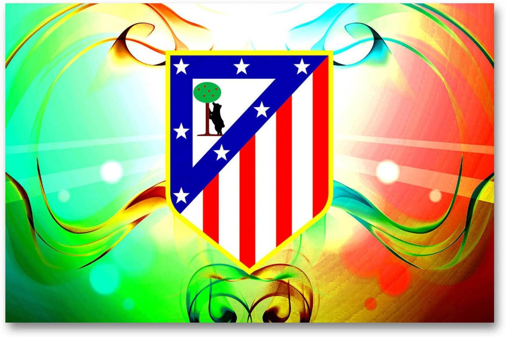Atletico Madrid Football Club Wall Poster Logo Hd