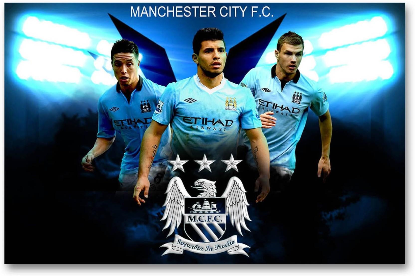best service 53e1a 40898 Manchester City Football Club Wall Poster - Sergio Agüero ...
