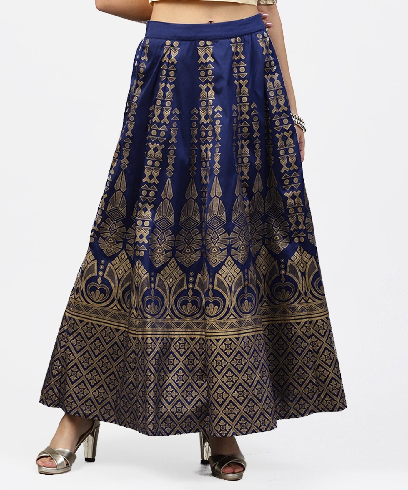 e3944998db8 Juniper Printed Women Flared Dark Blue Skirt - Buy Juniper Printed ...