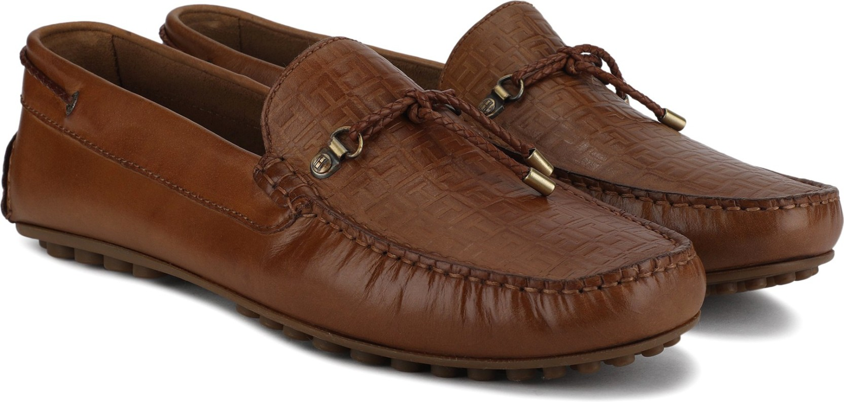 a93a0439009 Tommy Hilfiger EMBOSSED MIX LEATHER DRIVER Loafers For Men - Buy ...