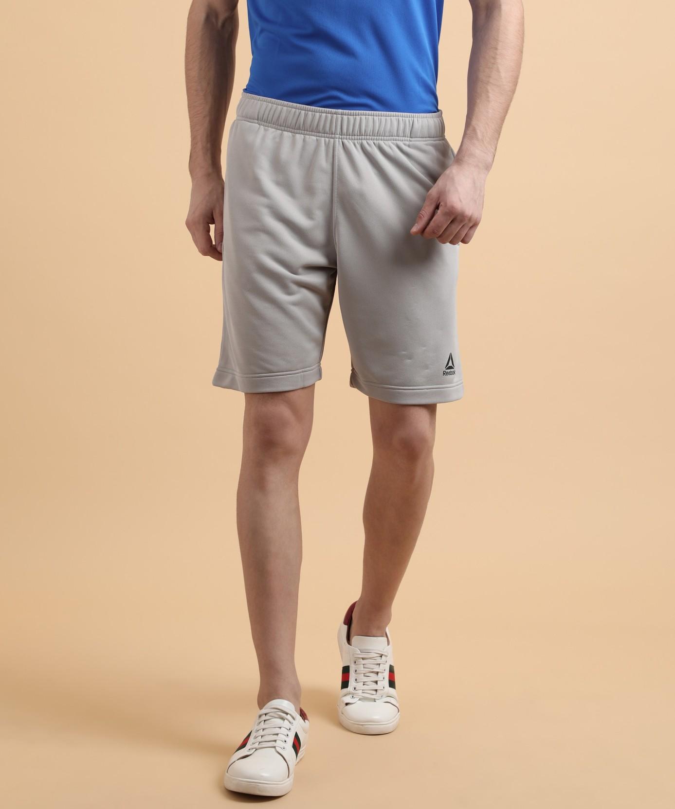 14547047e04a REEBOK Solid Men Grey Sports Shorts - Buy REEBOK Solid Men Grey ...