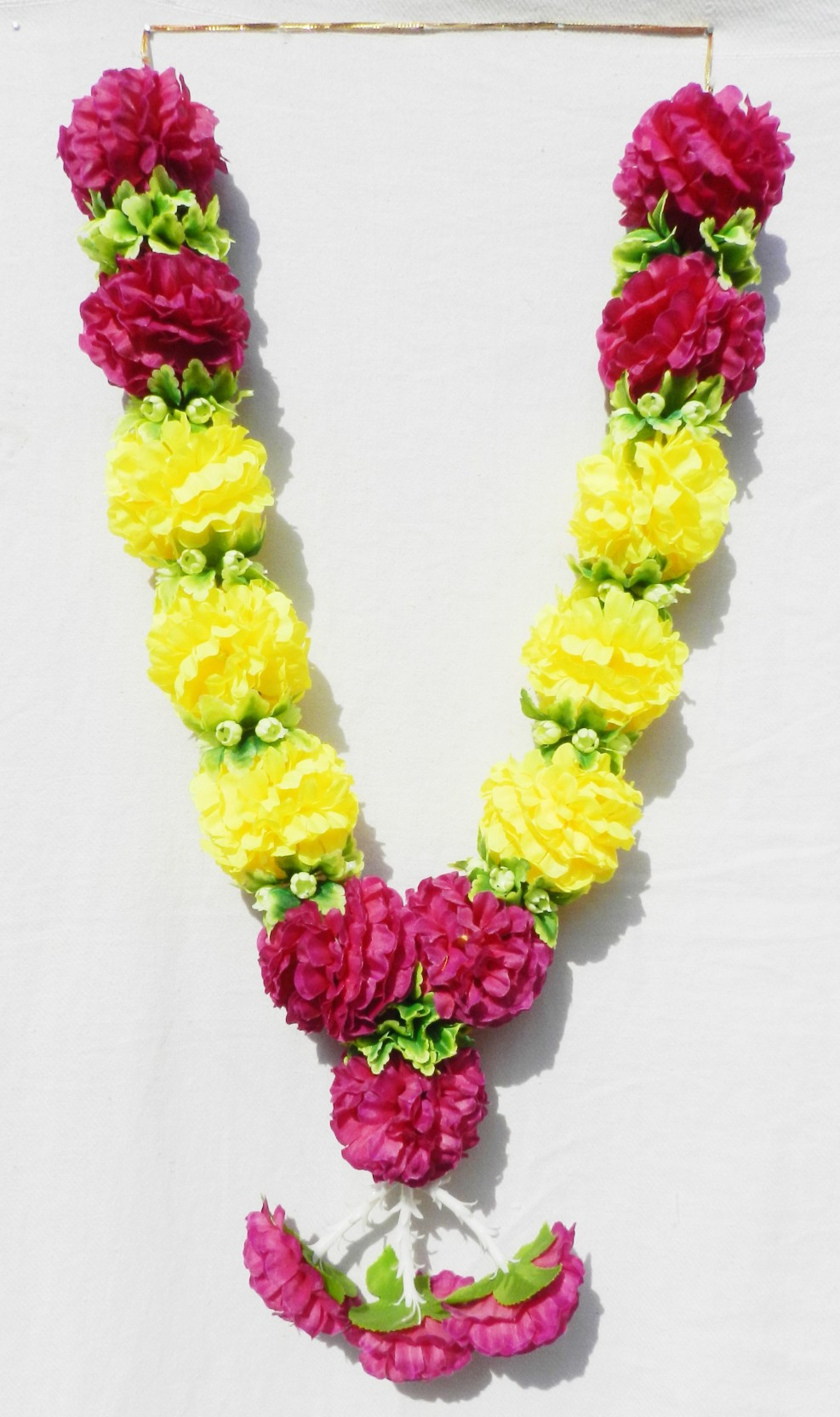 Myeshopes artificial yello purple daisy garland for durga puja and add to cart izmirmasajfo