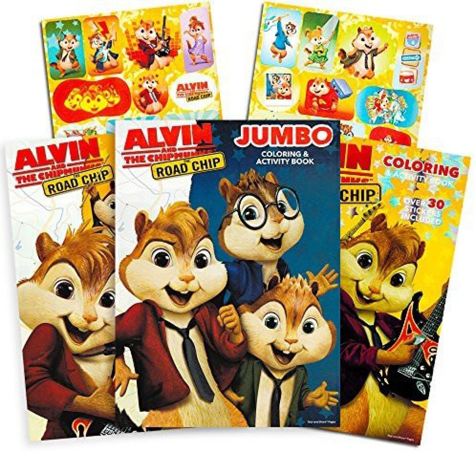 Alvin And The Chipmunks 3 Images genrc alvin and the chipmunks coloring and activity book set