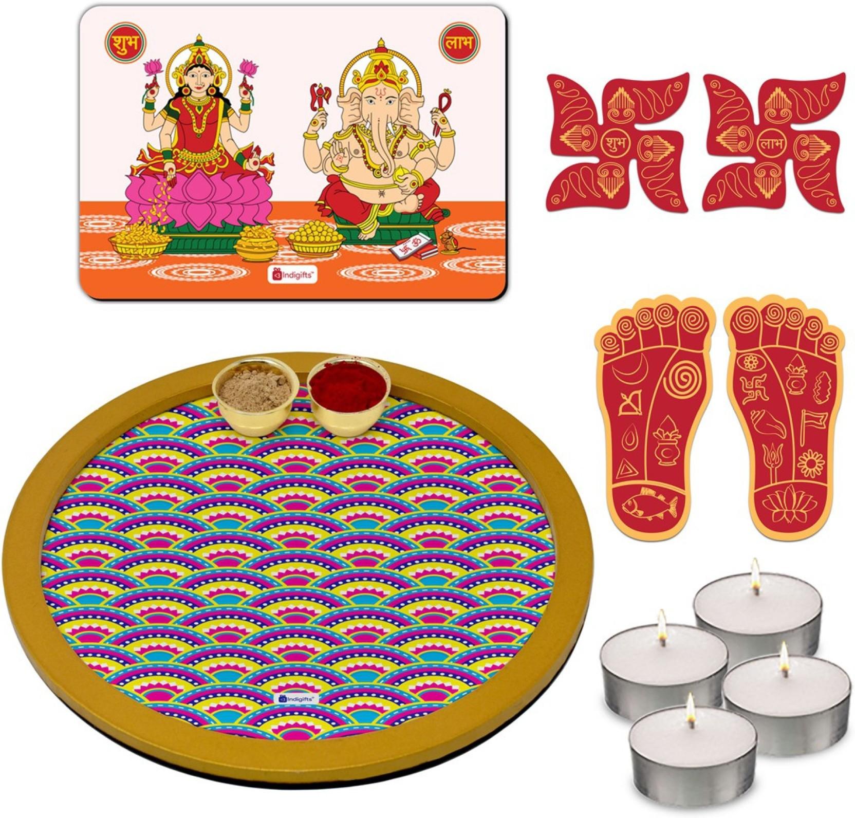 Indi ts Puja Thali Pooja Thali Set Puja Plate Diwali Special