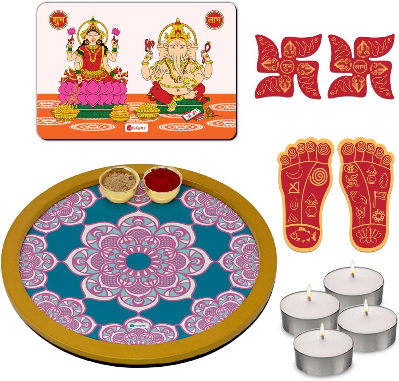 Indi ts Puja Thali Puja Plate Diwali Gift Items Pooja Items