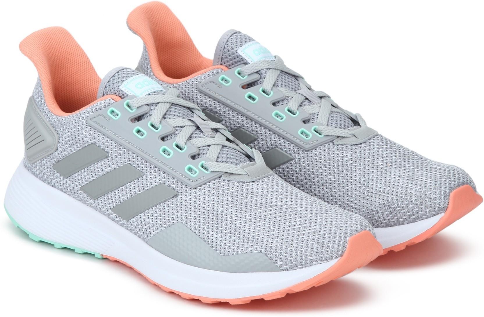 pretty nice 91489 b33ec ADIDAS DURAMO 9 Running Shoes For Women (Grey)