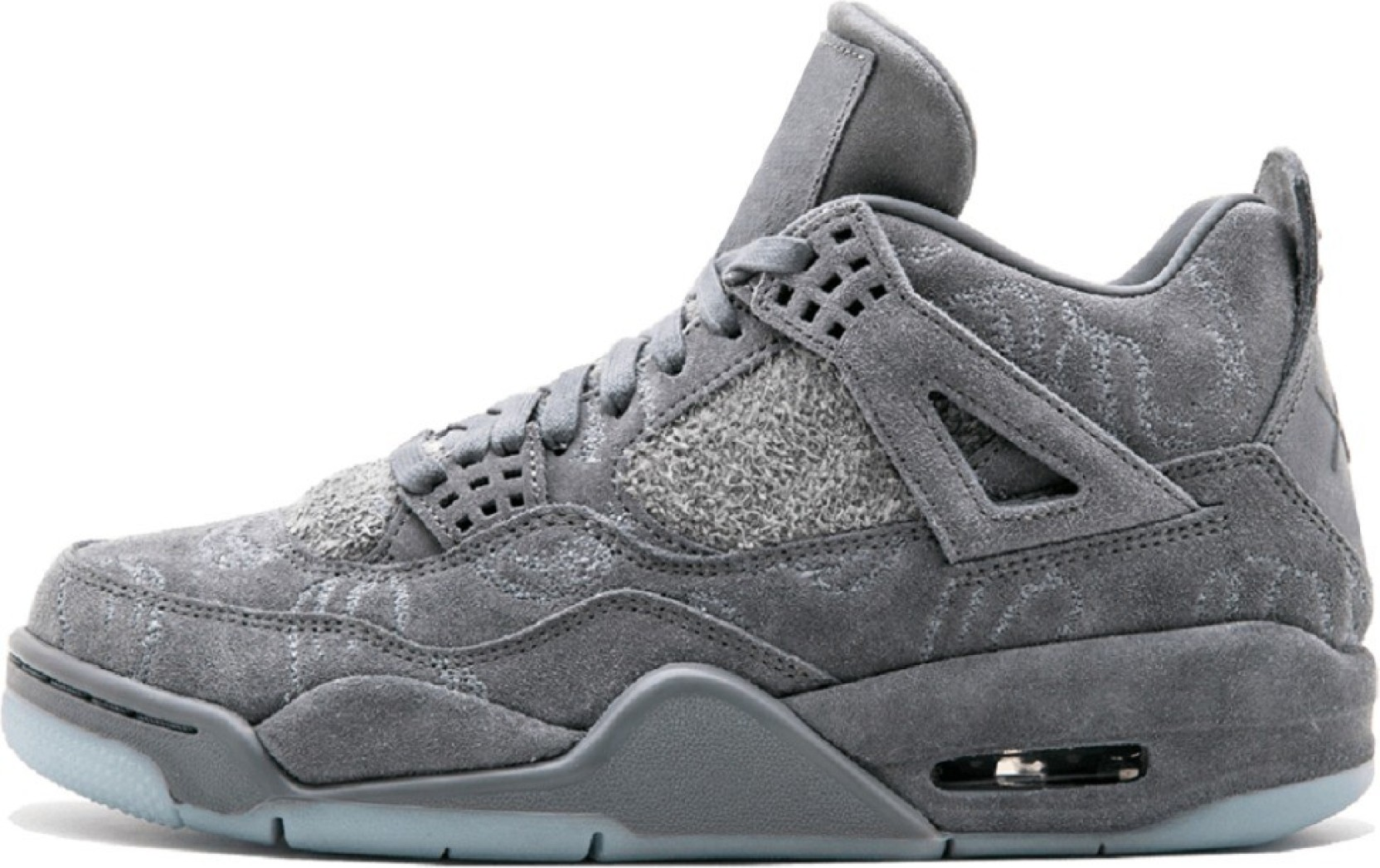 new style a4bff c56a4 Air Jordan 4 Retro Kaws Running Shoes For Men (Grey)