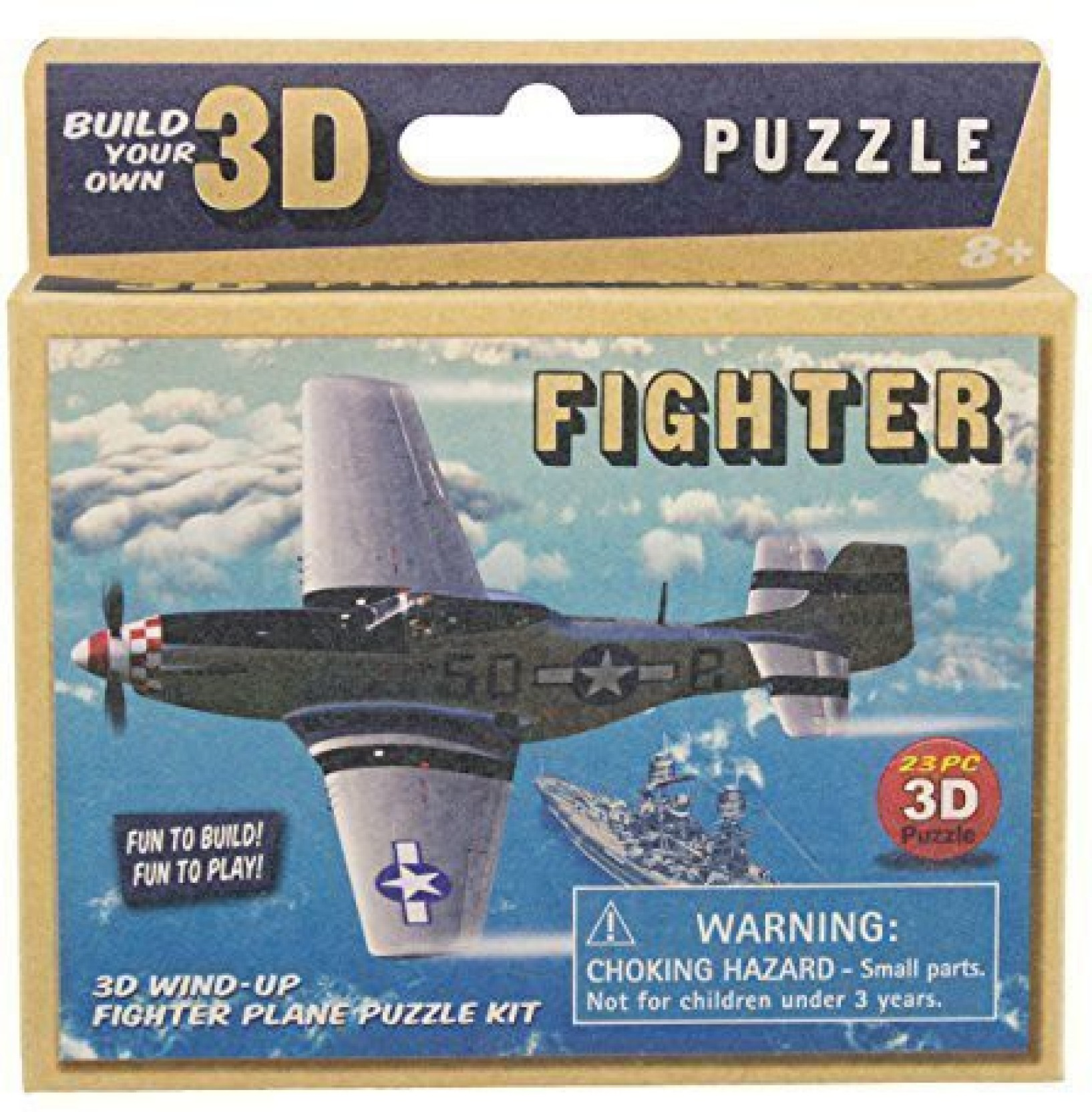 Westminster Build Your Own Wind Up 3D Model Retro Fighter Plane