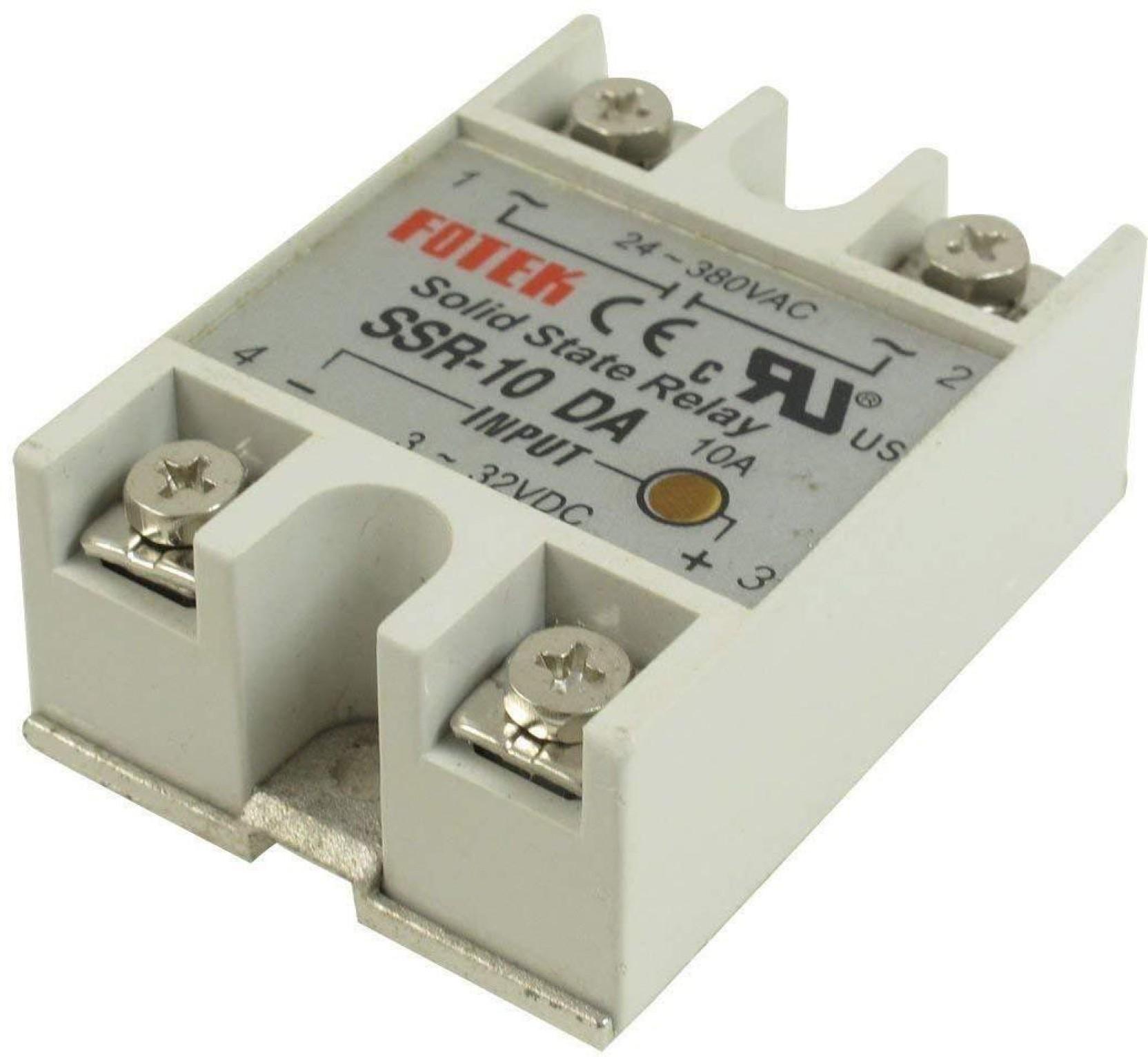 3-32V Dc To Ac 24V-380V 10A 250V SSR-10DA Solid State Relay Module