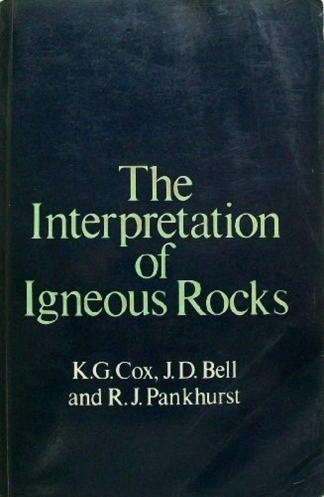 The Interpretation of Igneous Rocks. Share