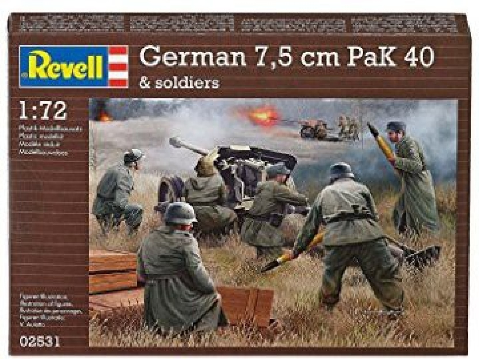 Revell Germany Kids 1/72 German Pak 40 With Soldiers Model