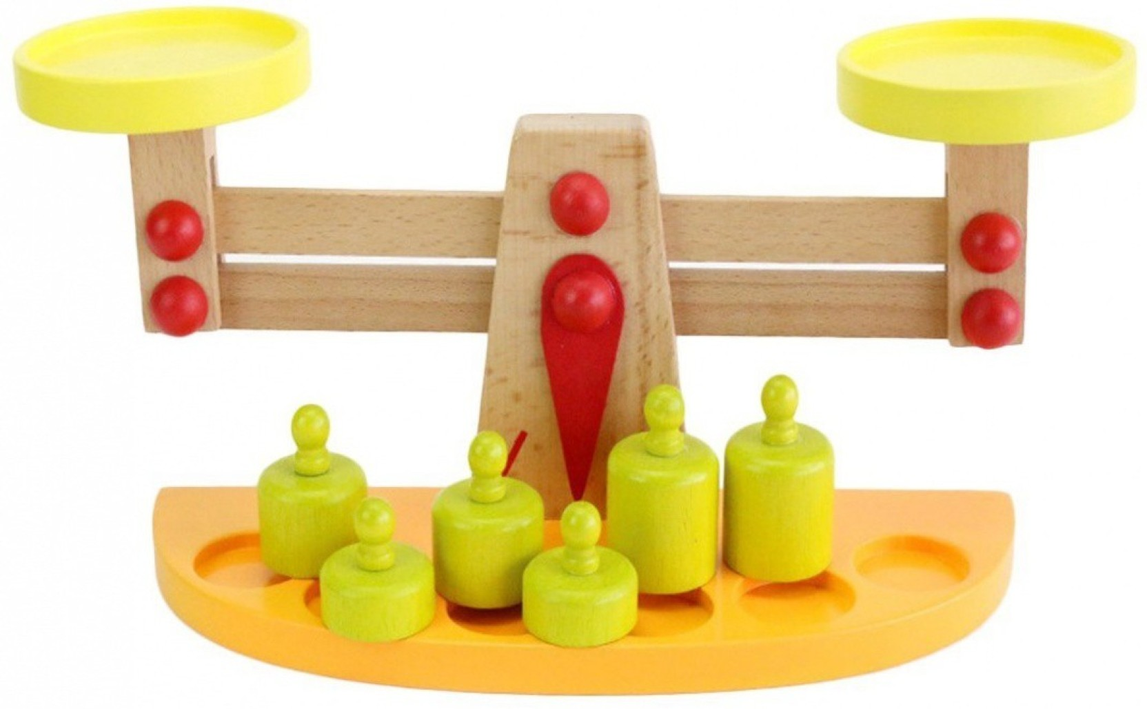 0e897c07a36c Civil Wooden Balance Scale with 6 Weights Education Toy for Baby ...