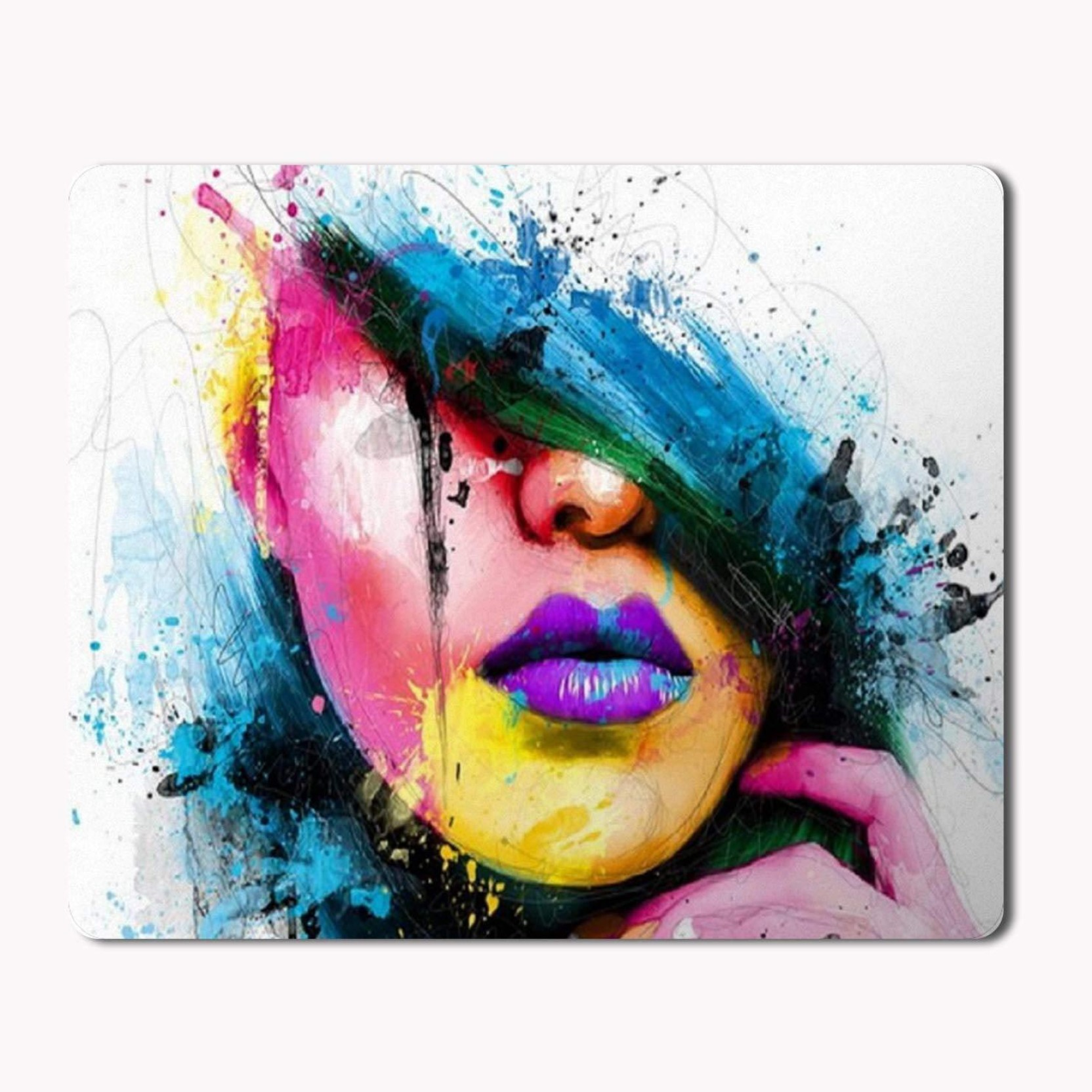 Ikraft Abstract Woman Face Painting Printed Mouse Pad Professional Circuit Board Manufactureronline Quoteprinted Add To Cart