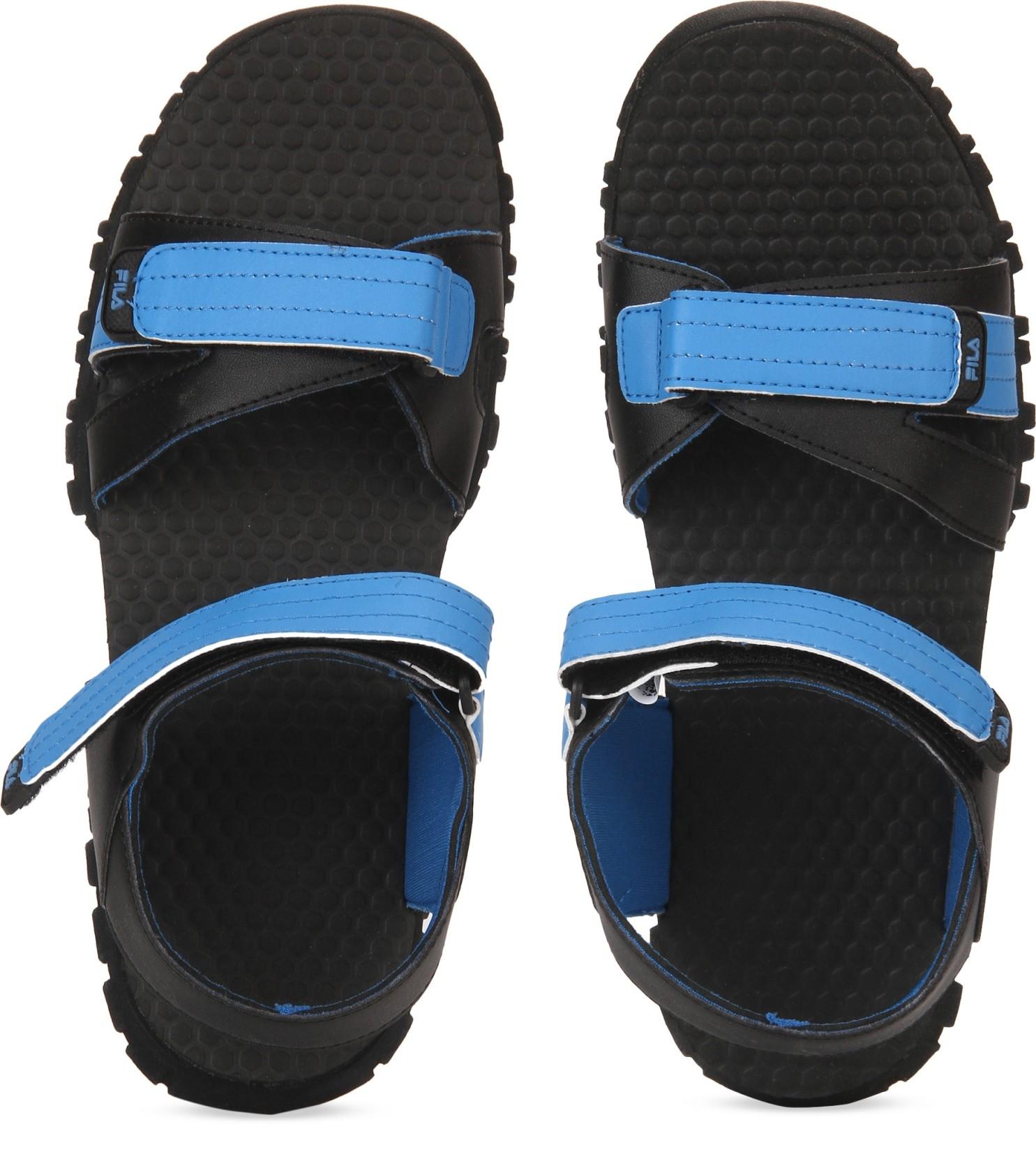 3c9307ba383e9 Fila Men BLK RYL BLU Sports Sandals - Buy Fila Men BLK RYL BLU ...