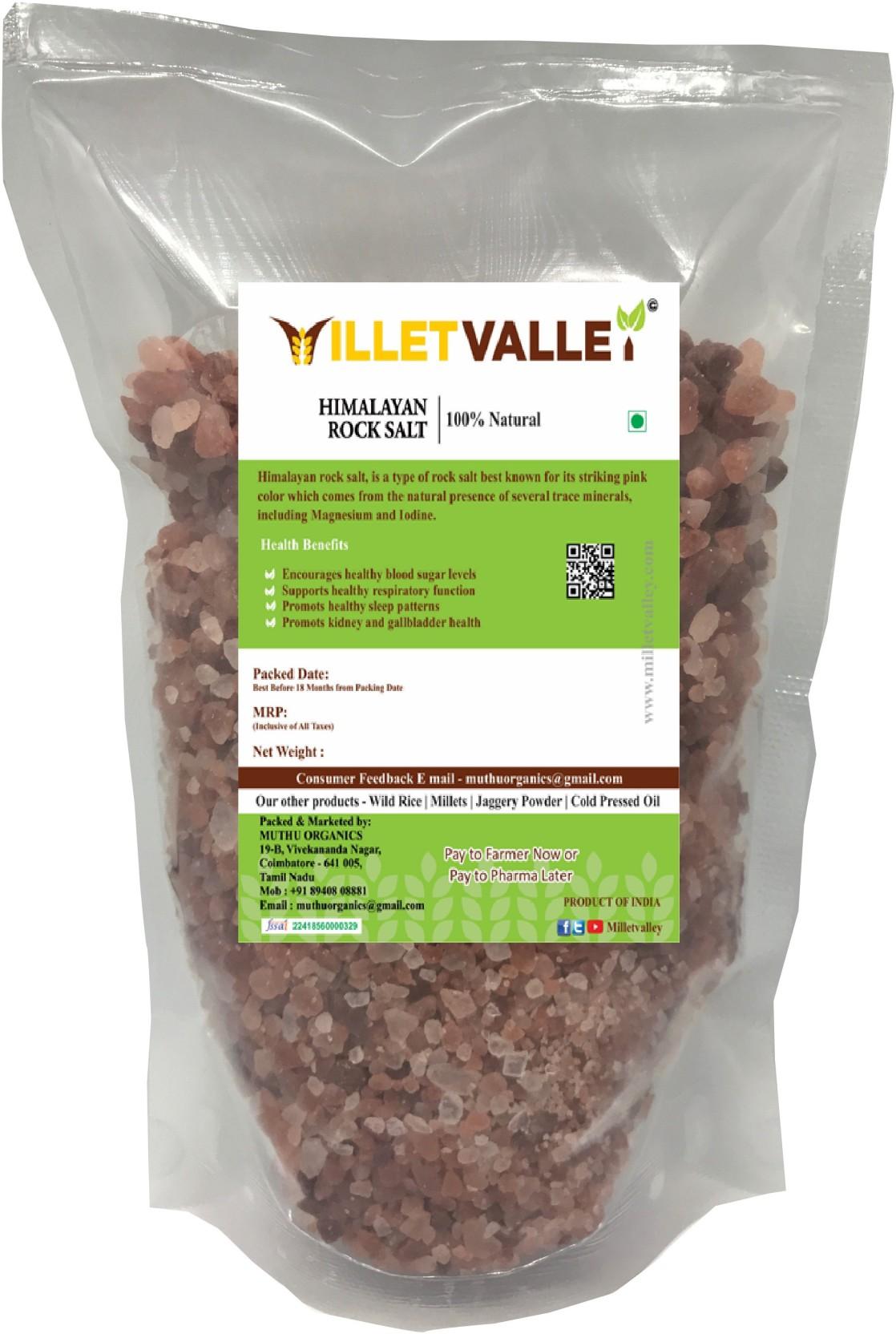 Millet Valley HIMALAYAN PINK ROCK SALT GRANULES Rock Salt