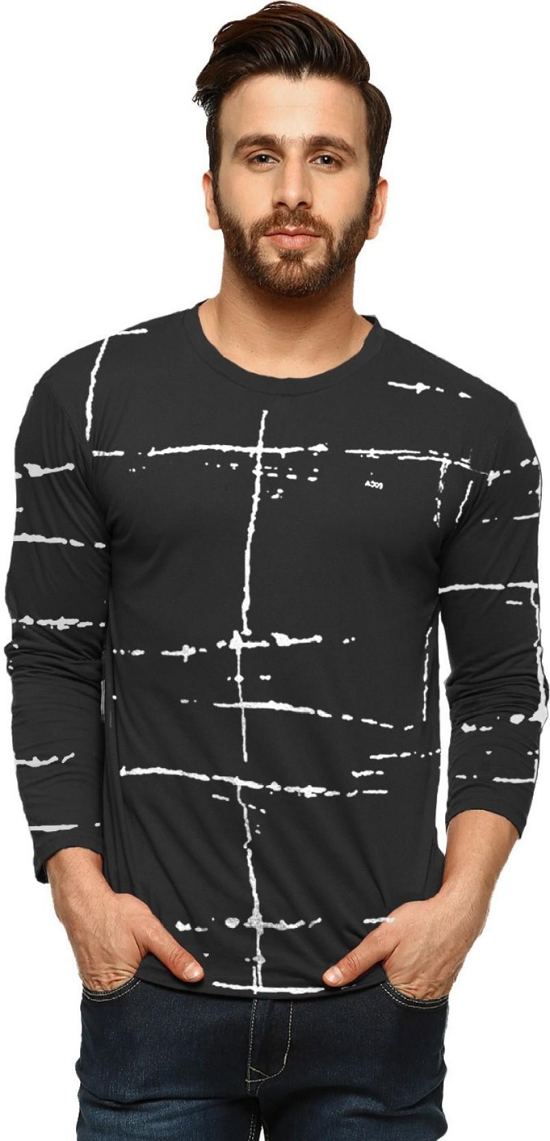 ba7ca1fed5 Tripr Printed Men's Round Neck Black T-Shirt - Buy Tripr Printed ...