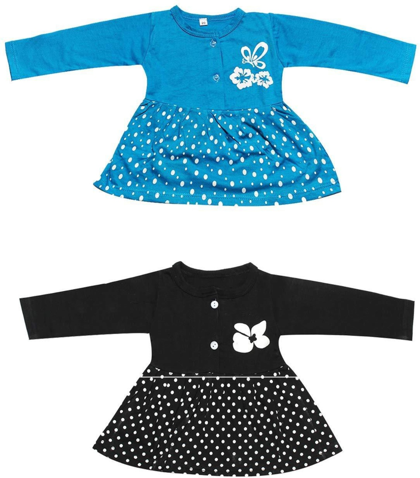 af3510a39 Babeezworld Girls Midi/Knee Length Casual Dress (Multicolor, Full Sleeve)