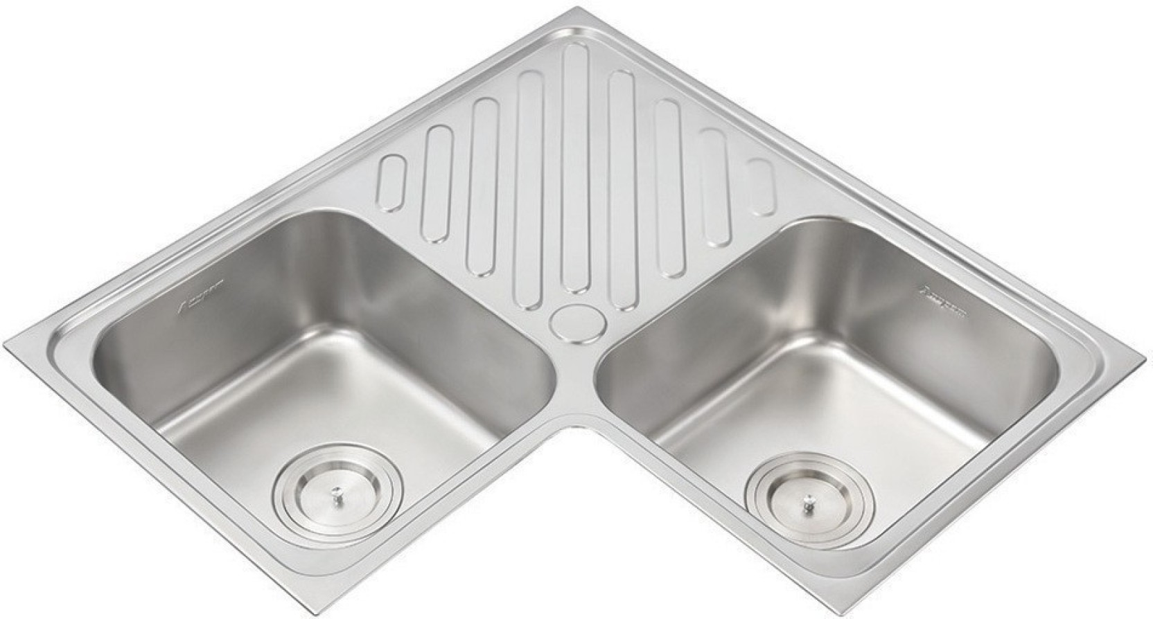 Anupam luxe sink model 312 corner basin stainless steel