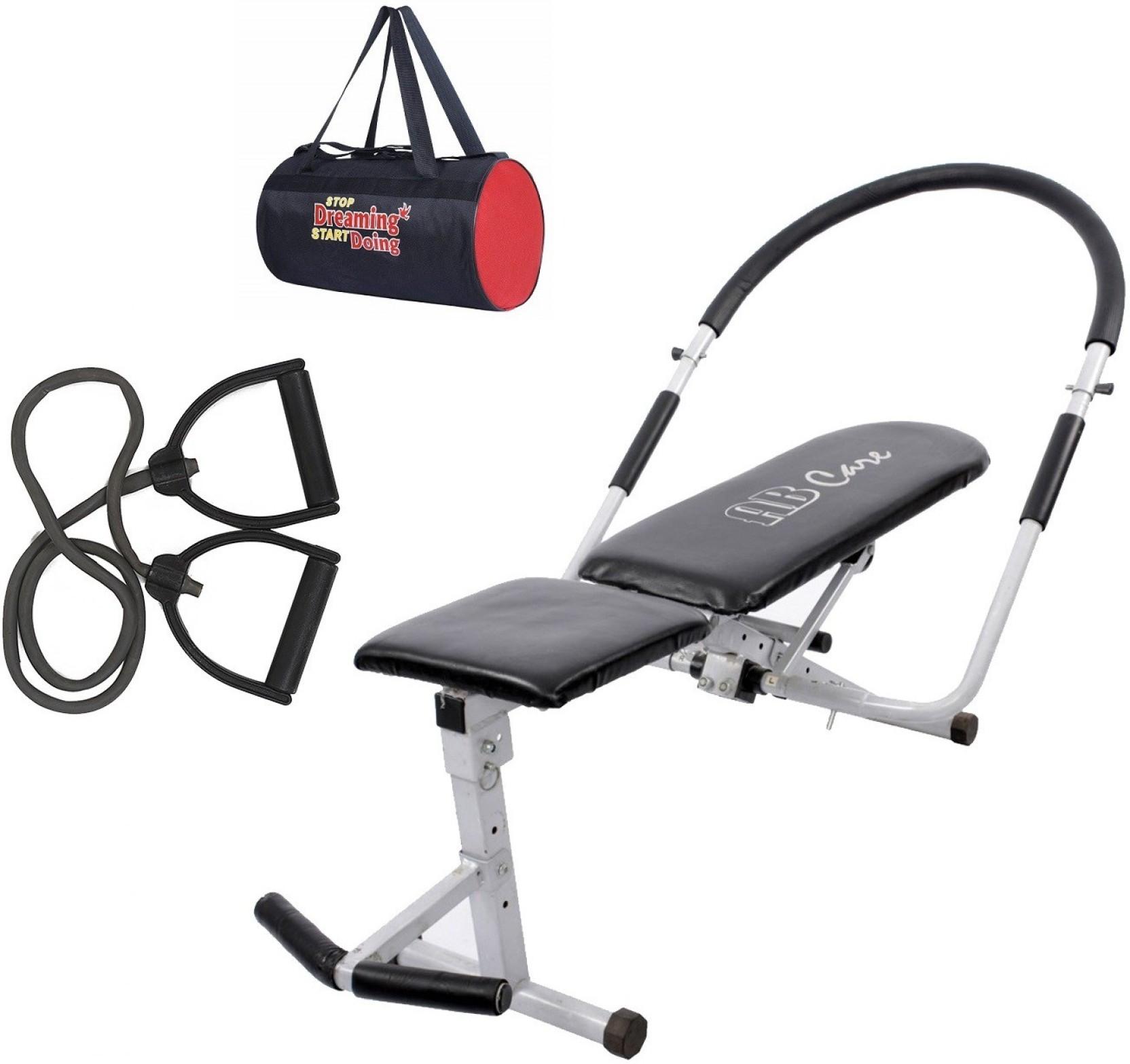 3507695d5544 Lifeline Ab Care Bench 111 Bonus with Gym Bag and Resistance Band Home Gym  Combo (100 - 120 kg)