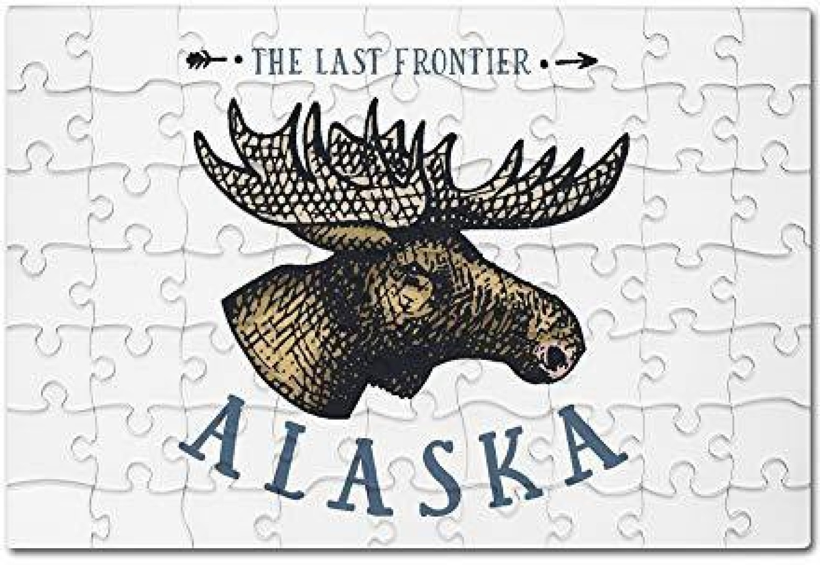 Lantern Press Alaska The Last Frontier Moose Icon (8x12