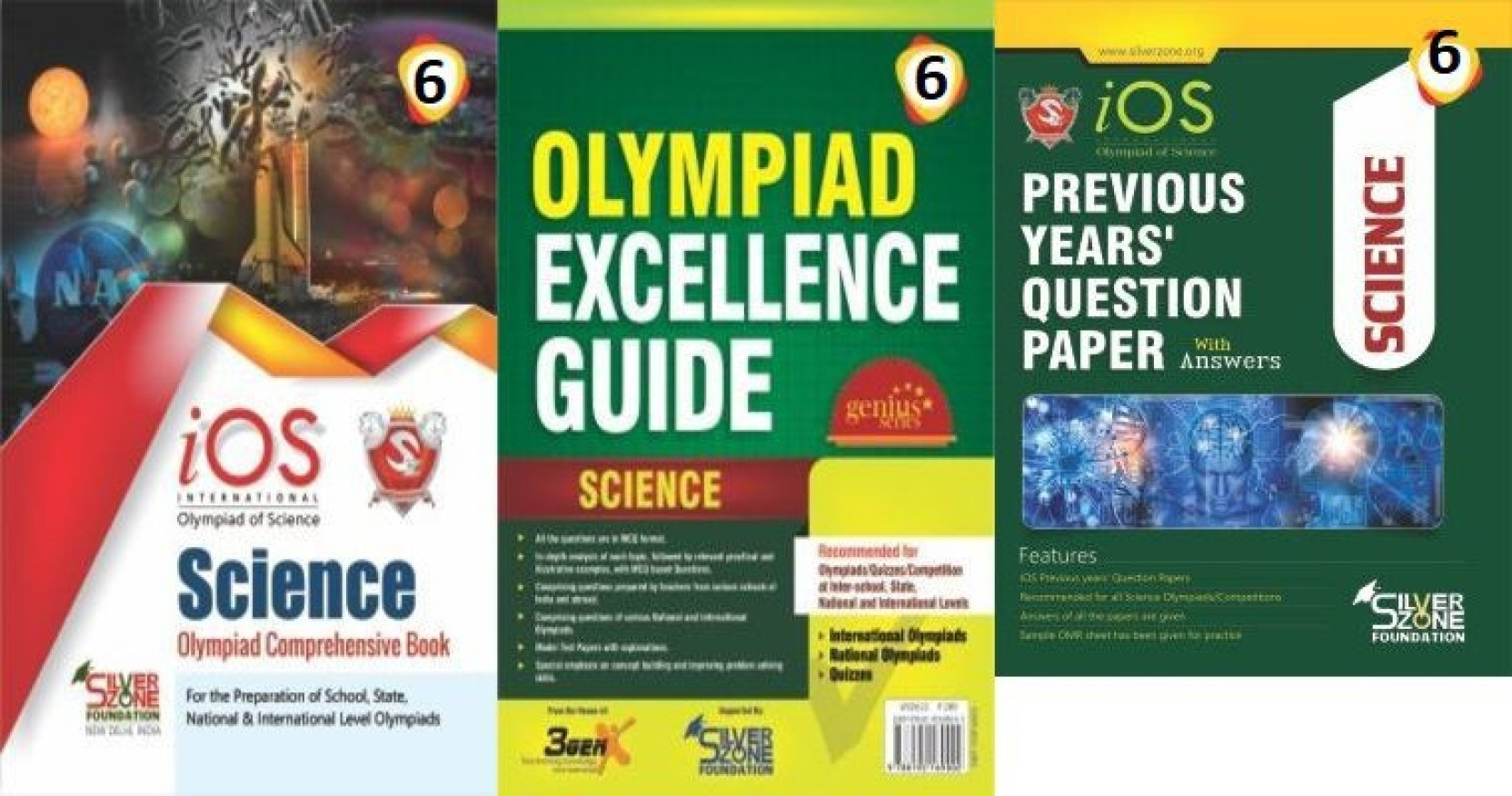 Silver Zone Olympiad Books Science IOS Comprihenshive Book + Guide