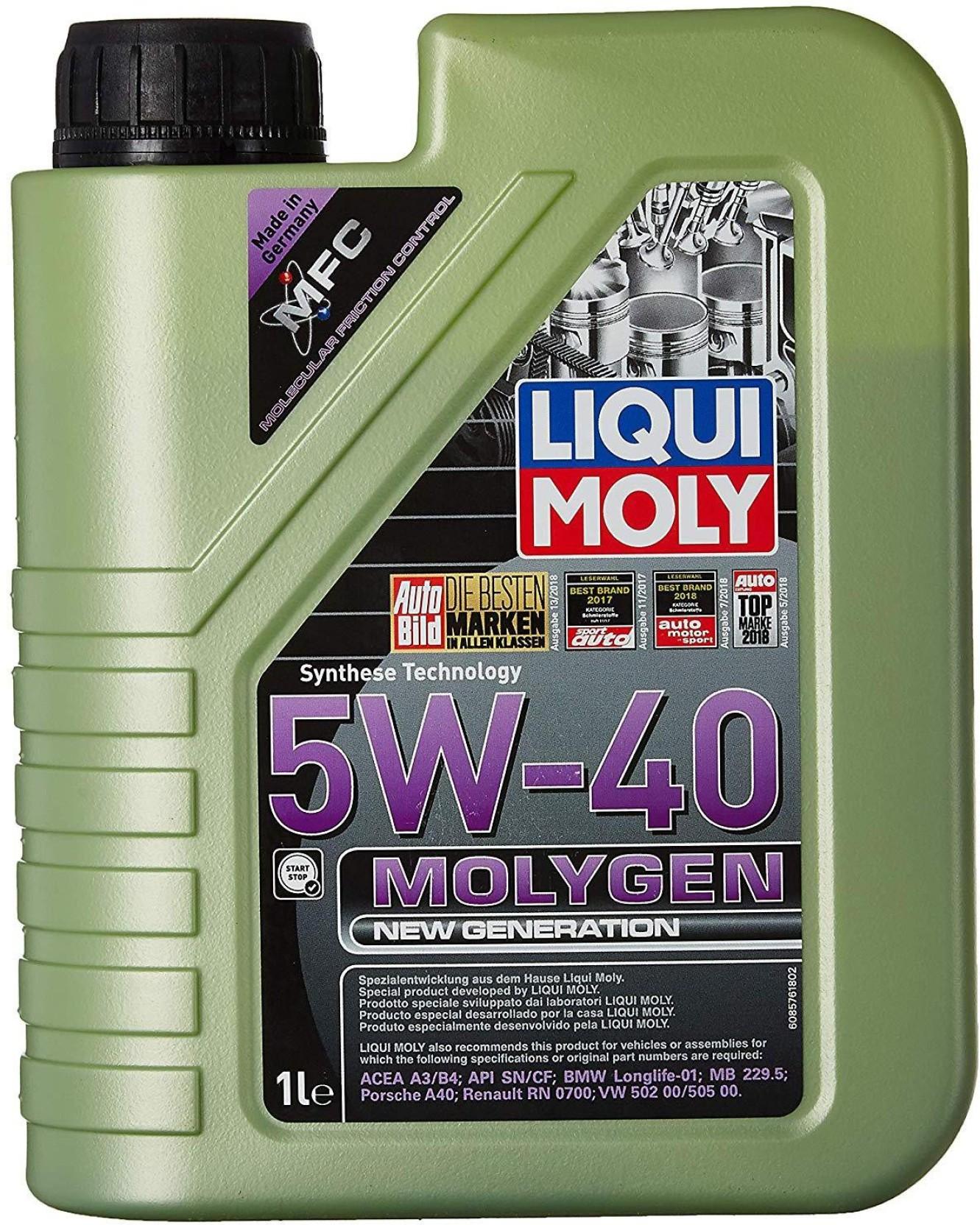 Liqui Moly Molygen New Generation 5W-40 ACEA A3, ACEA B4, API SN